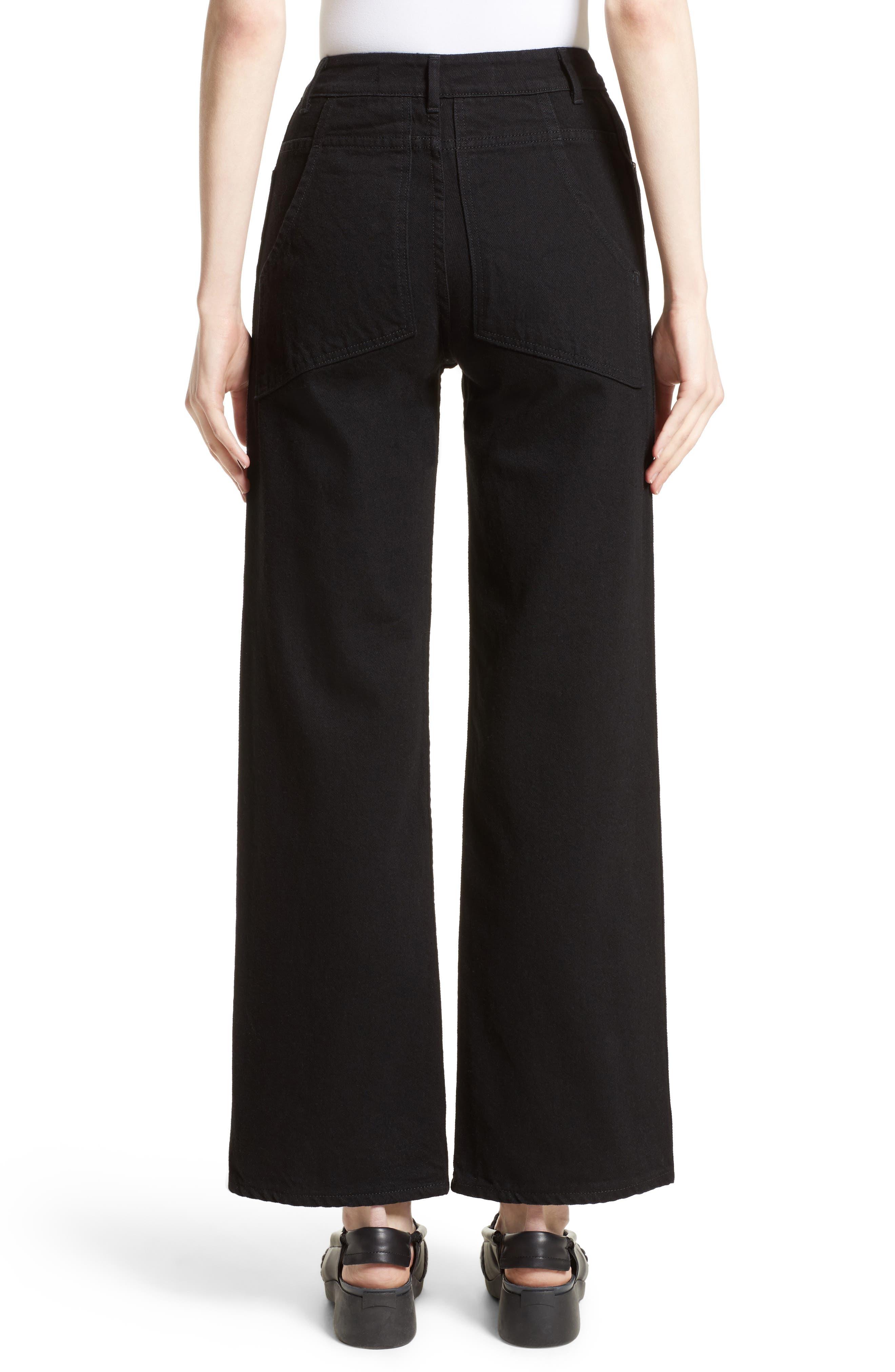 Alternate Image 2  - Eckhaus Latta EL Wide Leg Jeans (Almost Black)