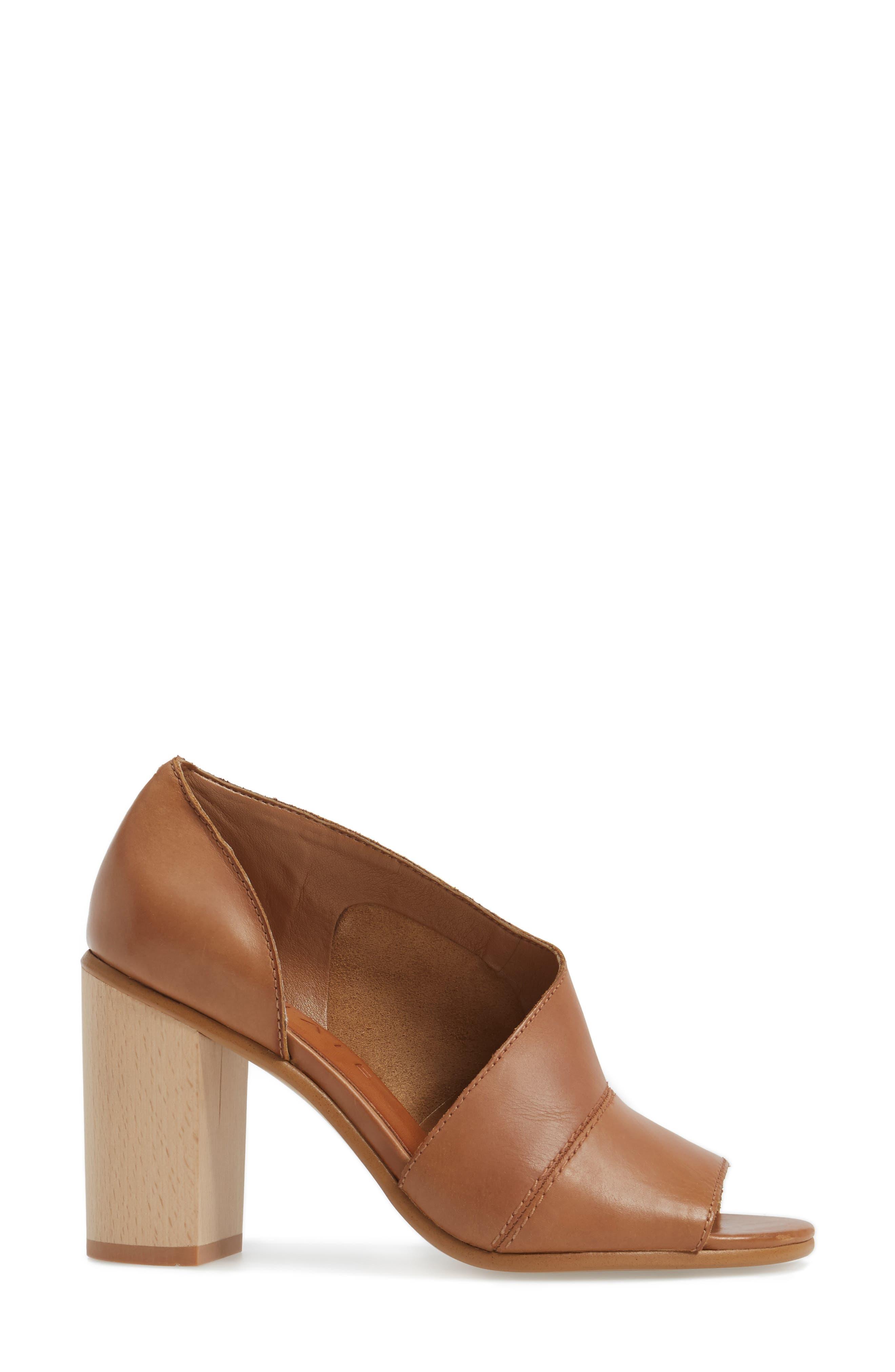 Amble Asymmetrical Sandal,                             Alternate thumbnail 3, color,                             Tan Leather