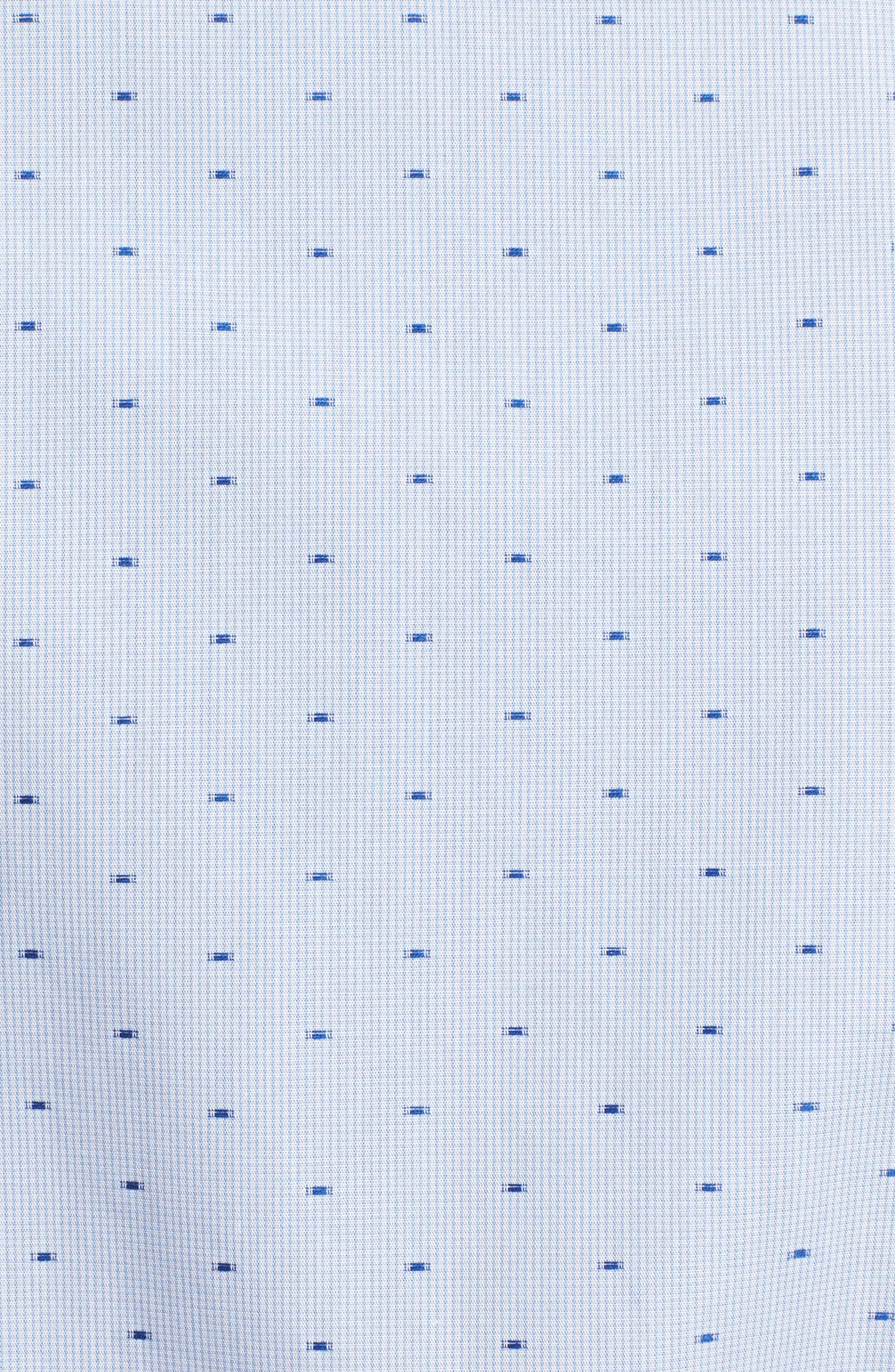 Regular Fit Print Sport Shirt,                             Alternate thumbnail 5, color,                             Blue