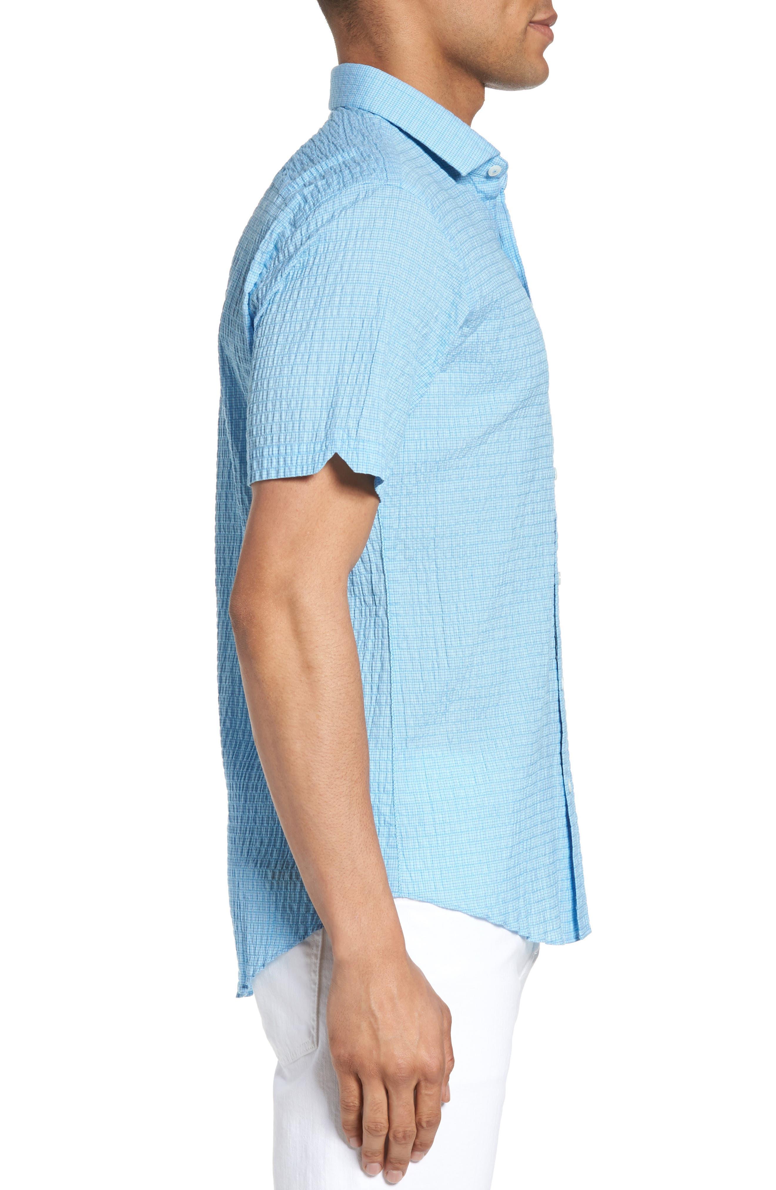 Morales Sport Shirt,                             Alternate thumbnail 3, color,                             Light Blue
