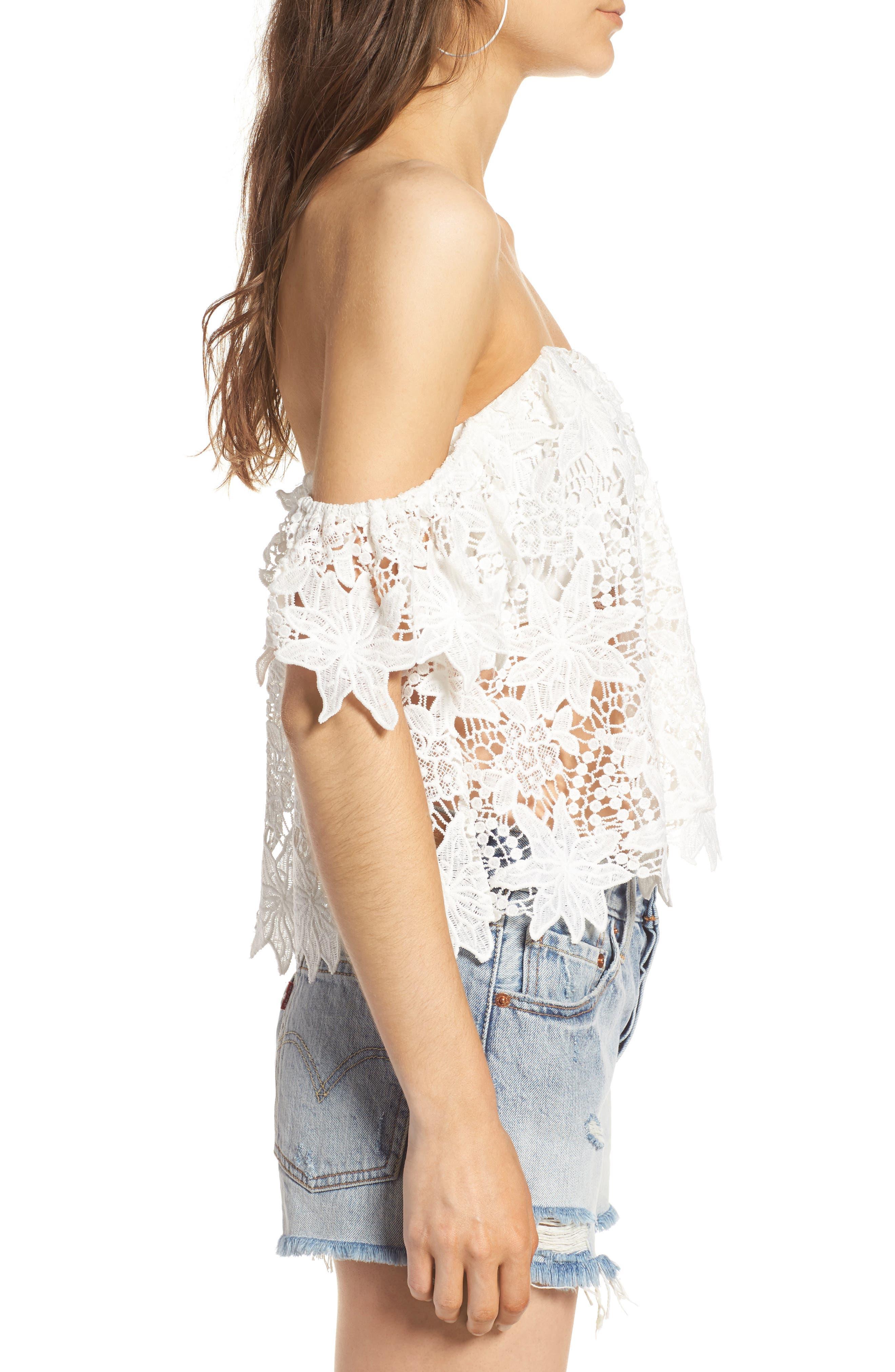 Alternate Image 3  - ASTR the Label Adela Off the Shoulder Lace Top