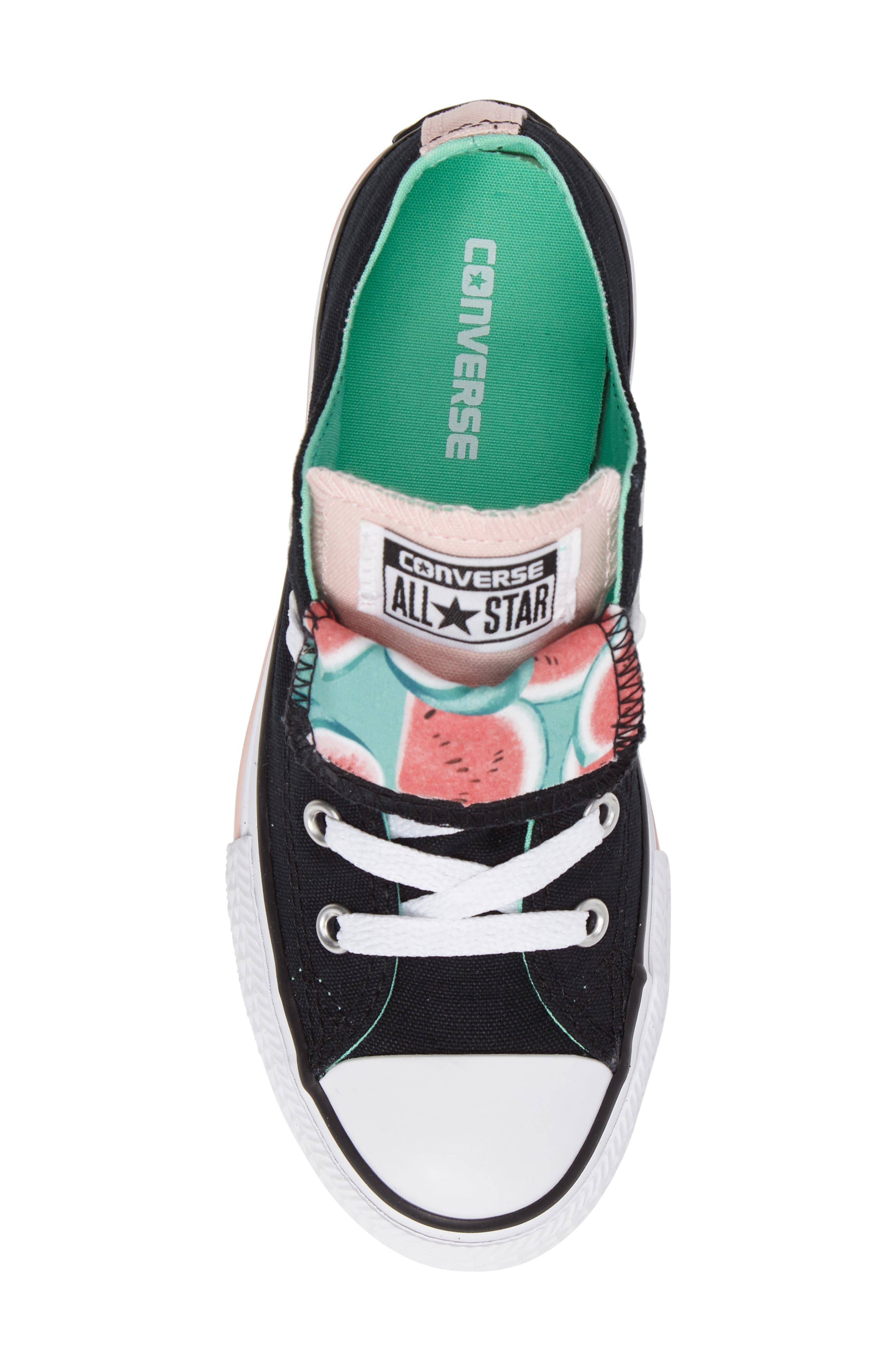 Chuck Taylor<sup>®</sup> All Star<sup>®</sup> Watermelon Print Sneaker,                             Alternate thumbnail 5, color,                             Black