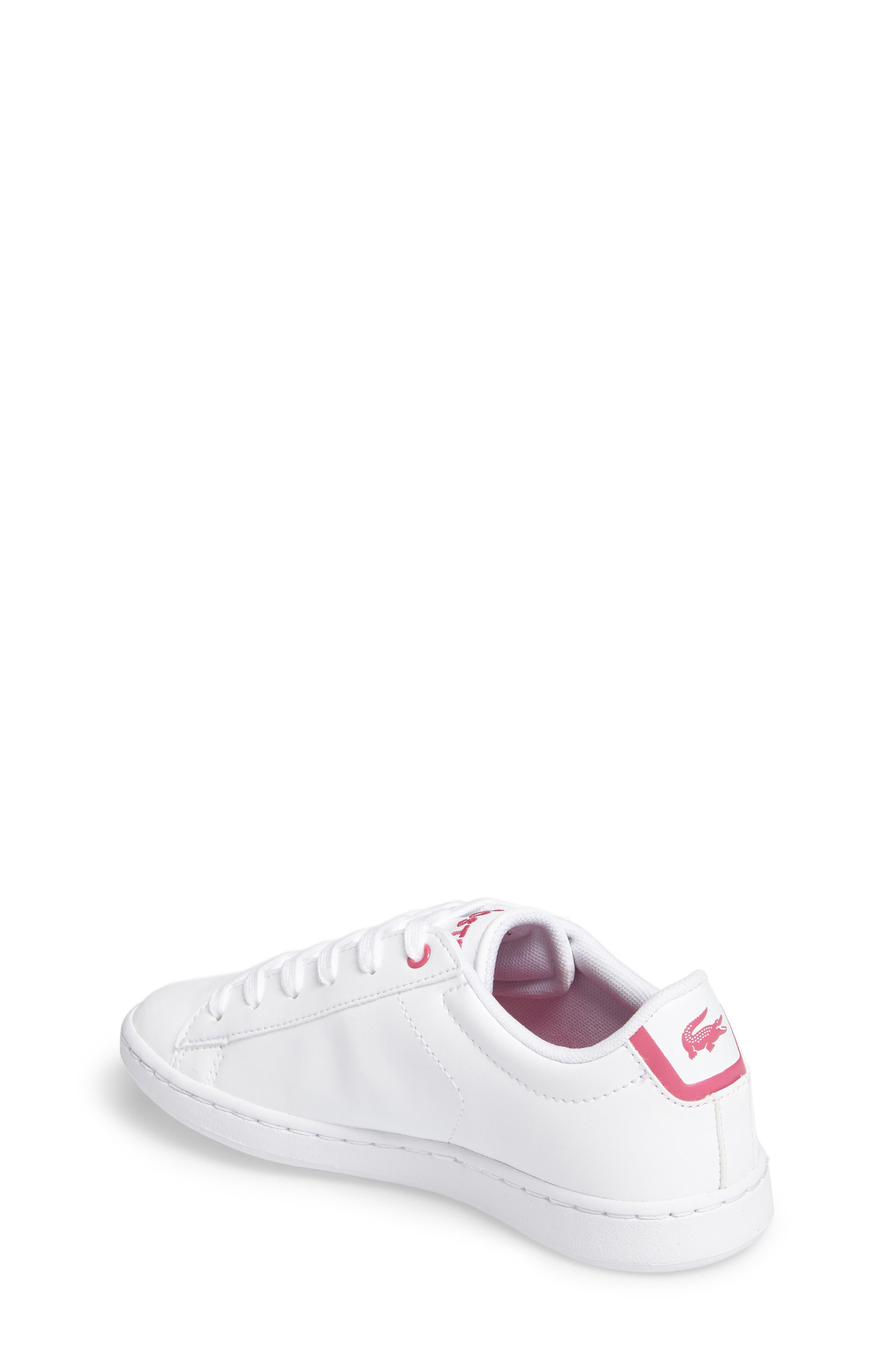 Carnaby EVO Sneaker,                             Alternate thumbnail 2, color,                             White/ Pink