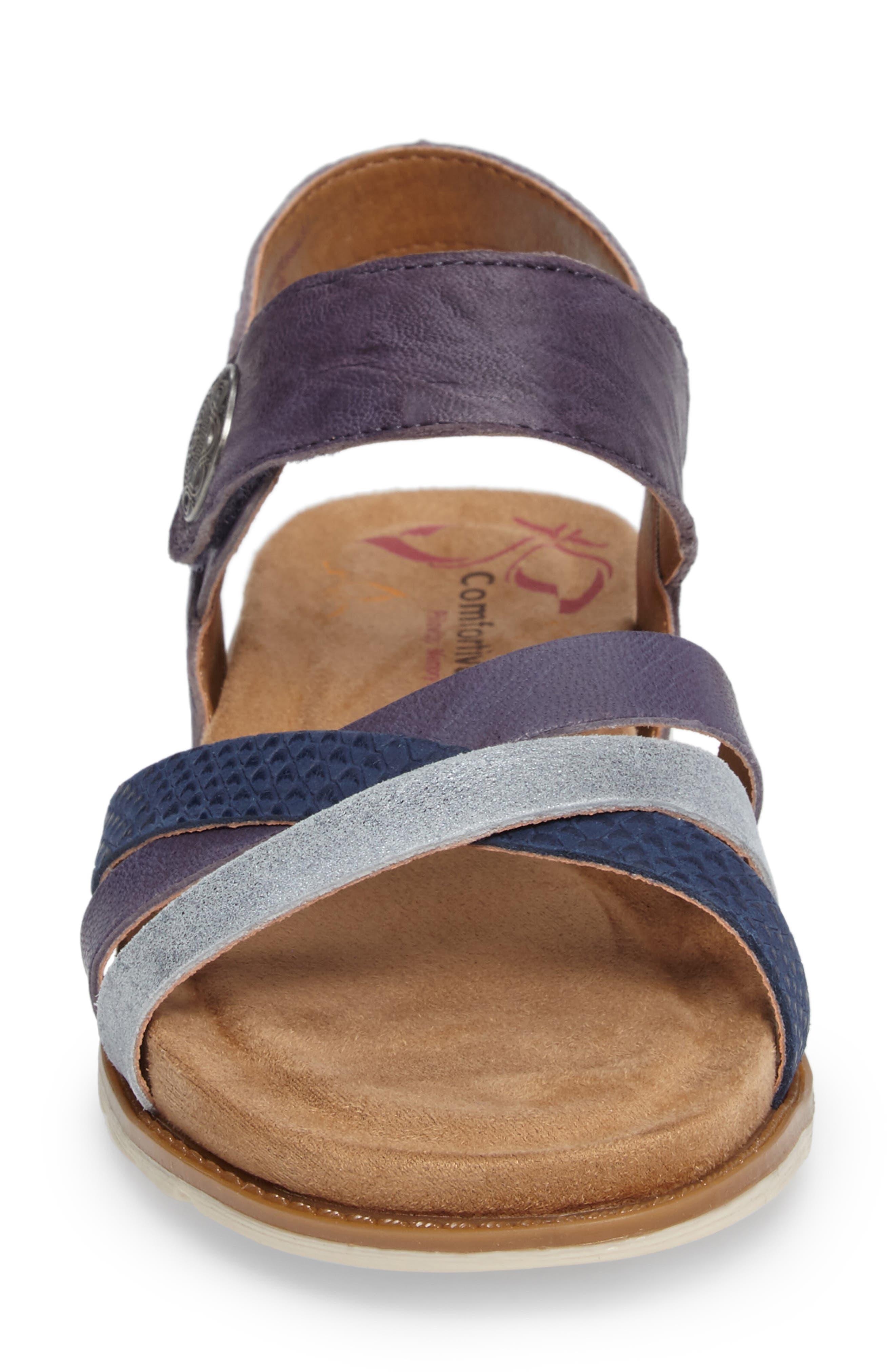 Alonsa Sandal,                             Alternate thumbnail 4, color,                             Denim Leather