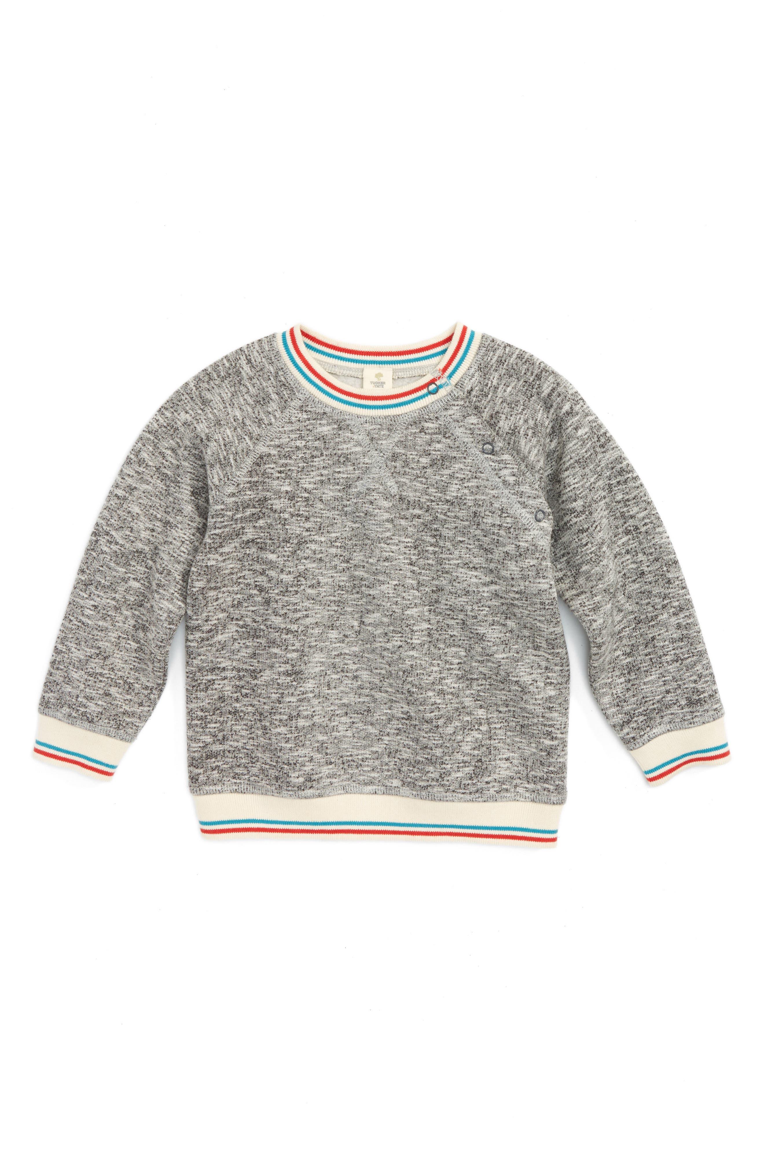 Tucker + Tate Stripe Trim Sweatshirt (Baby Boys)