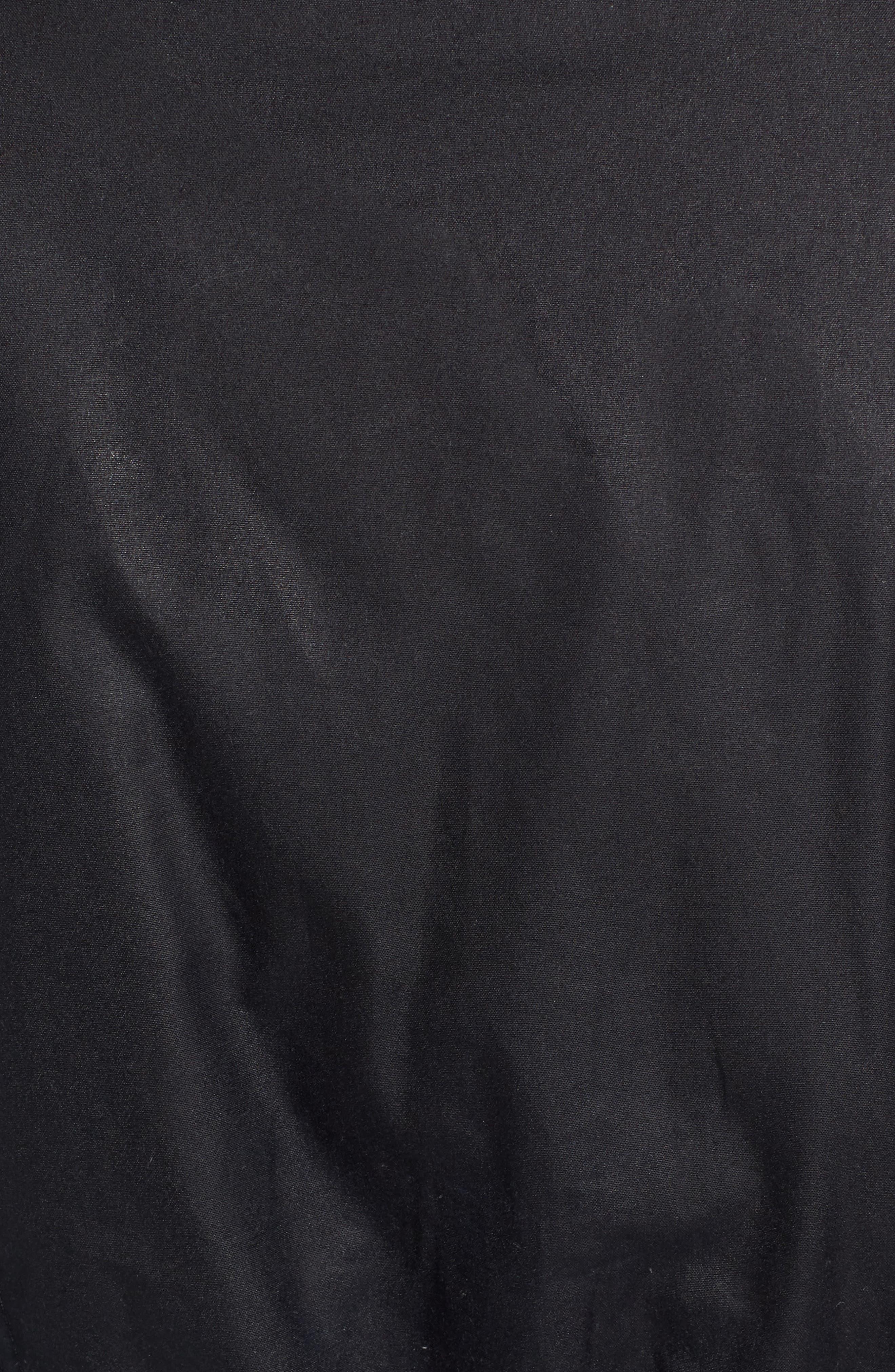 Barrowdale Waxed Cotton Coat,                             Alternate thumbnail 6, color,                             Navy