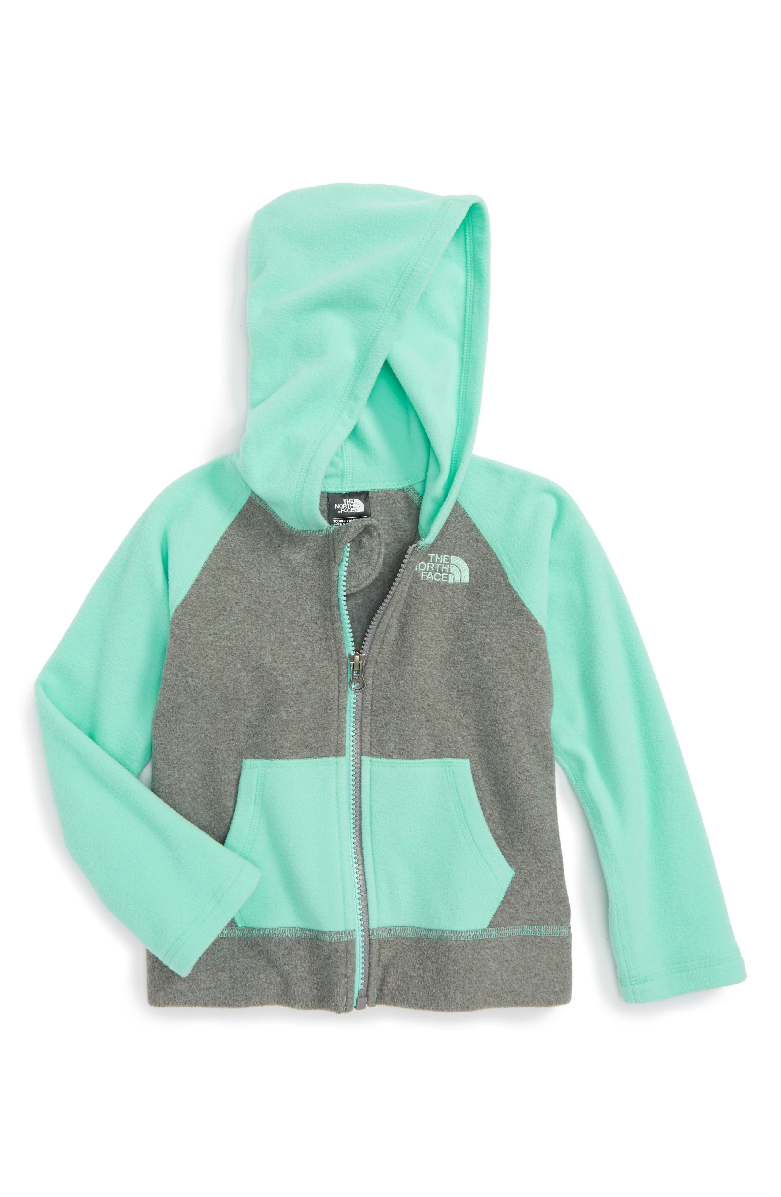 Main Image - The North Face Glacier Full Zip Hoodie (Toddler Girls & Little Girls)