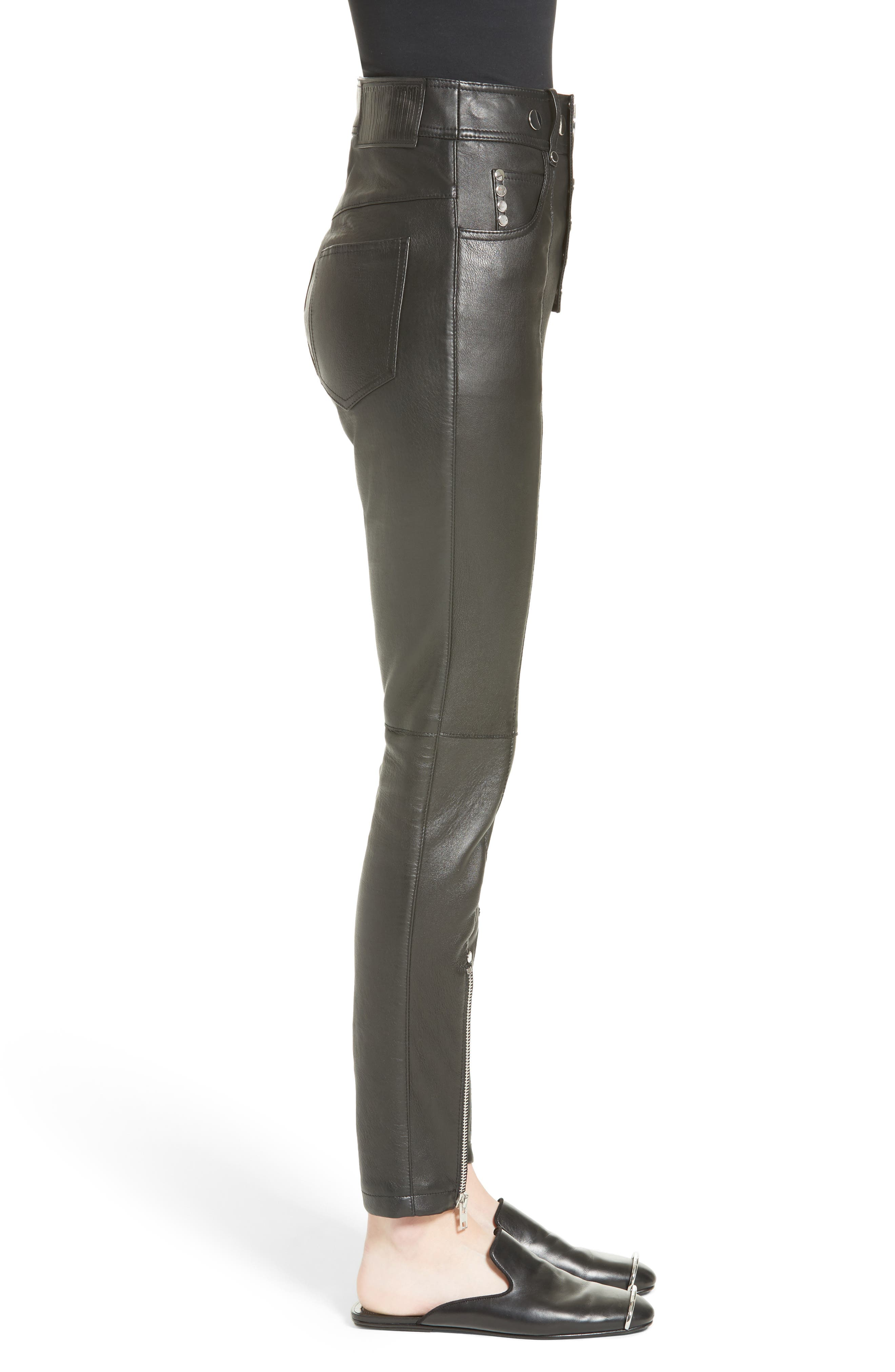 Alternate Image 5  - Alexander Wang High Waist Leather Pants