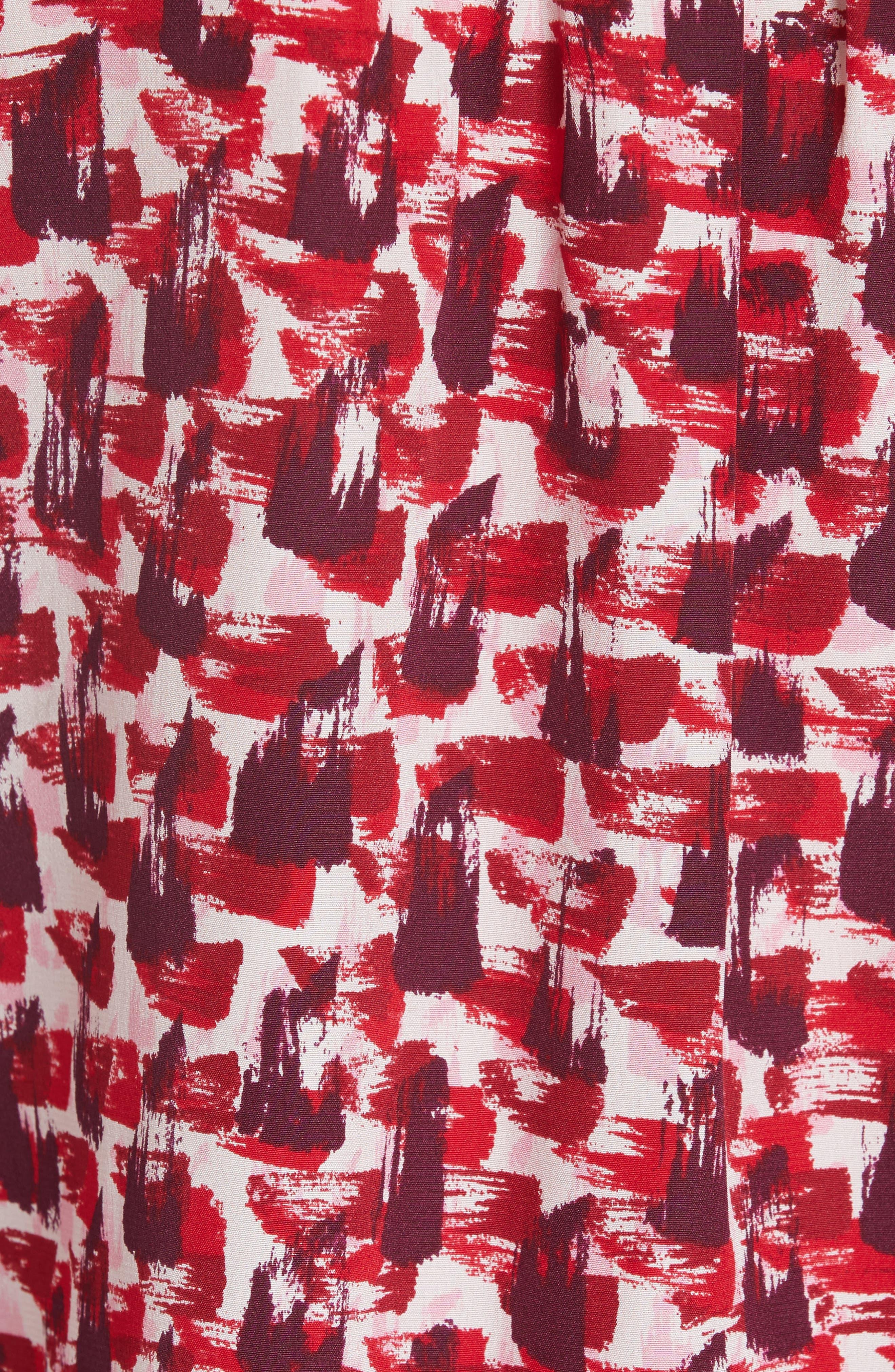 Alternate Image 5  - kate spade new york print brushed silk swing dress