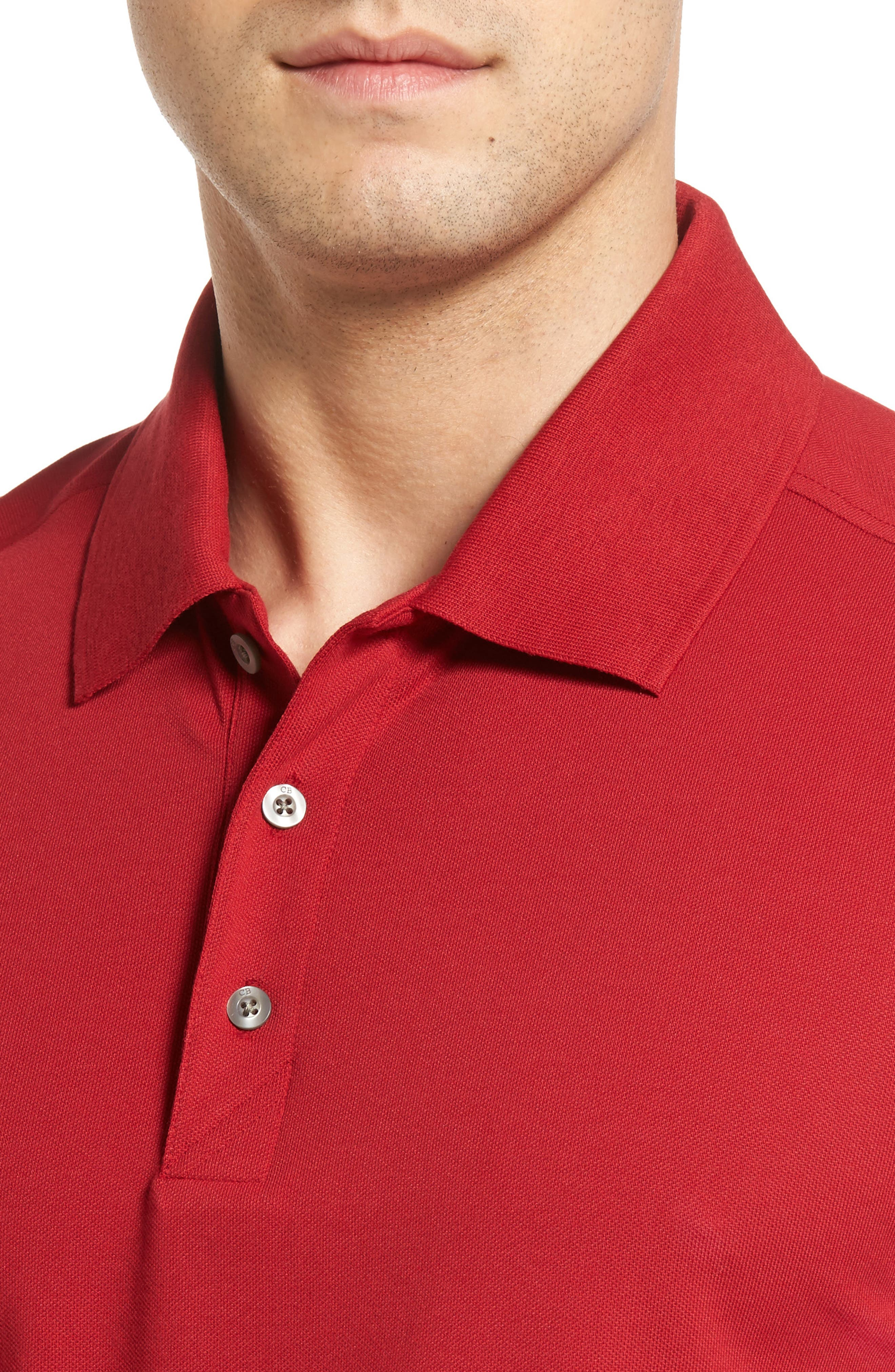 Advantage Golf Polo,                             Alternate thumbnail 4, color,                             Card Red
