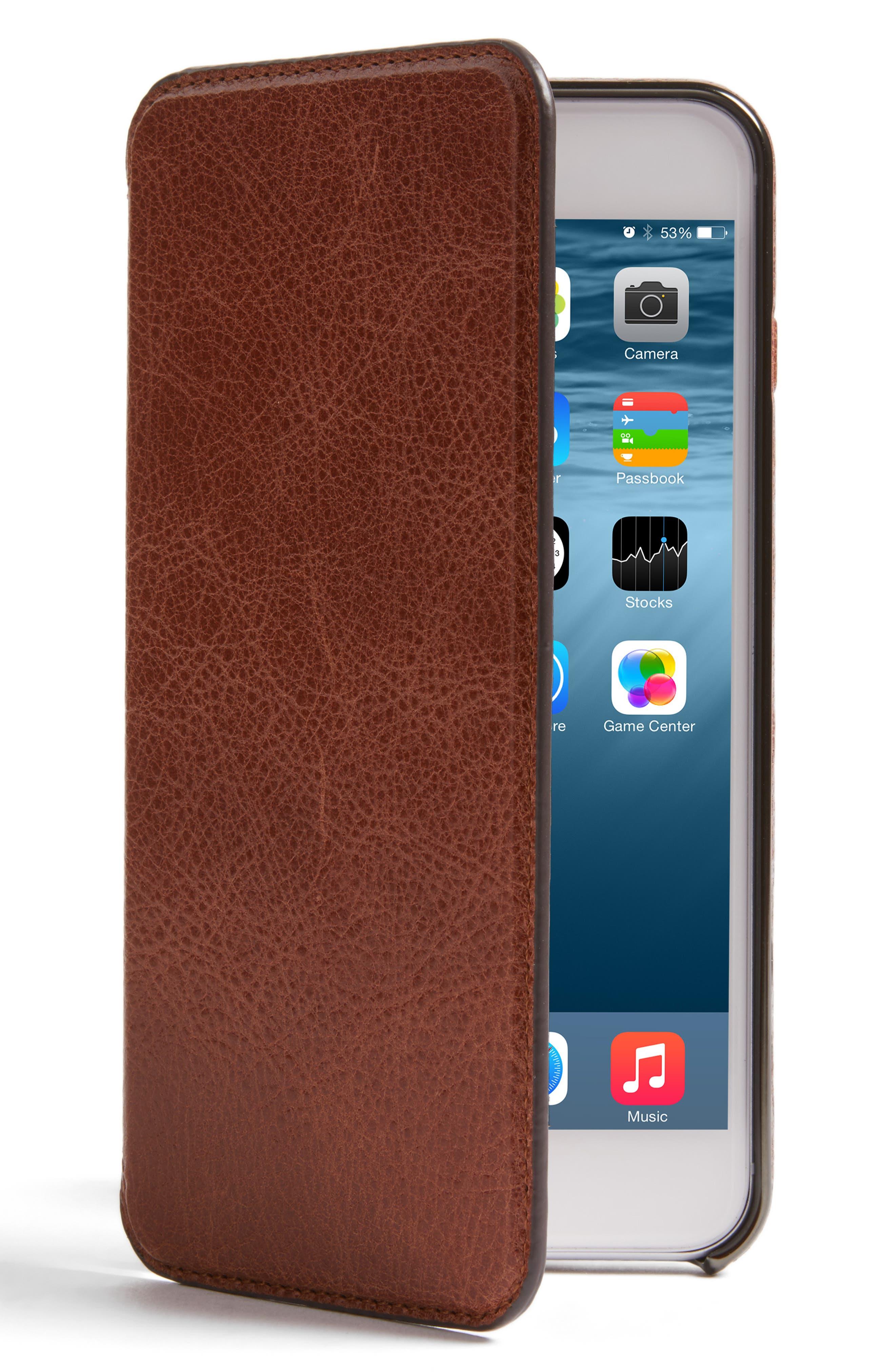 Main Image - Sena iPhone 7/8 Plus Ultra Thin Leather Wallet Case
