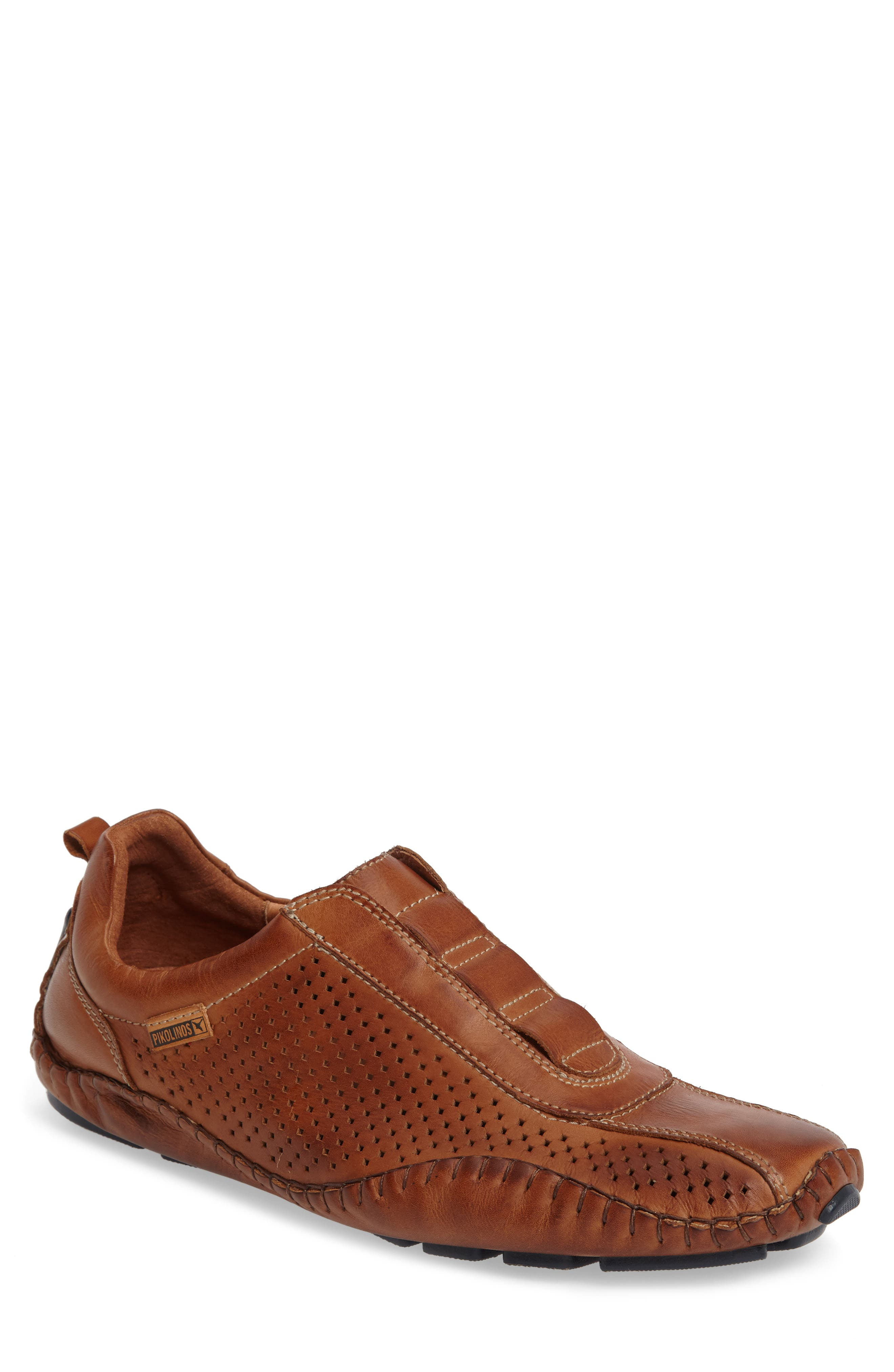 Fuencarral Driving Shoe,                         Main,                         color, Brandy Leather