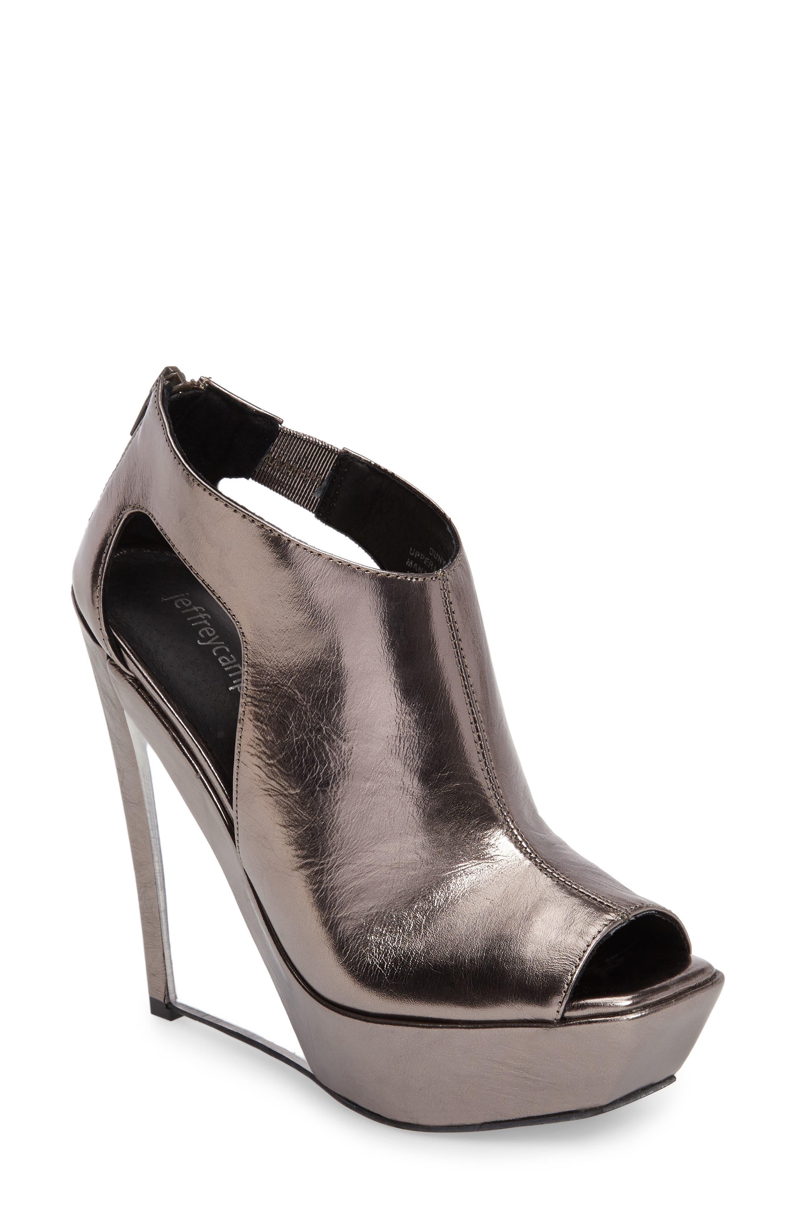 Jeffrey Campbell Dunya Cutout Platform Wedge Sandal (Women)