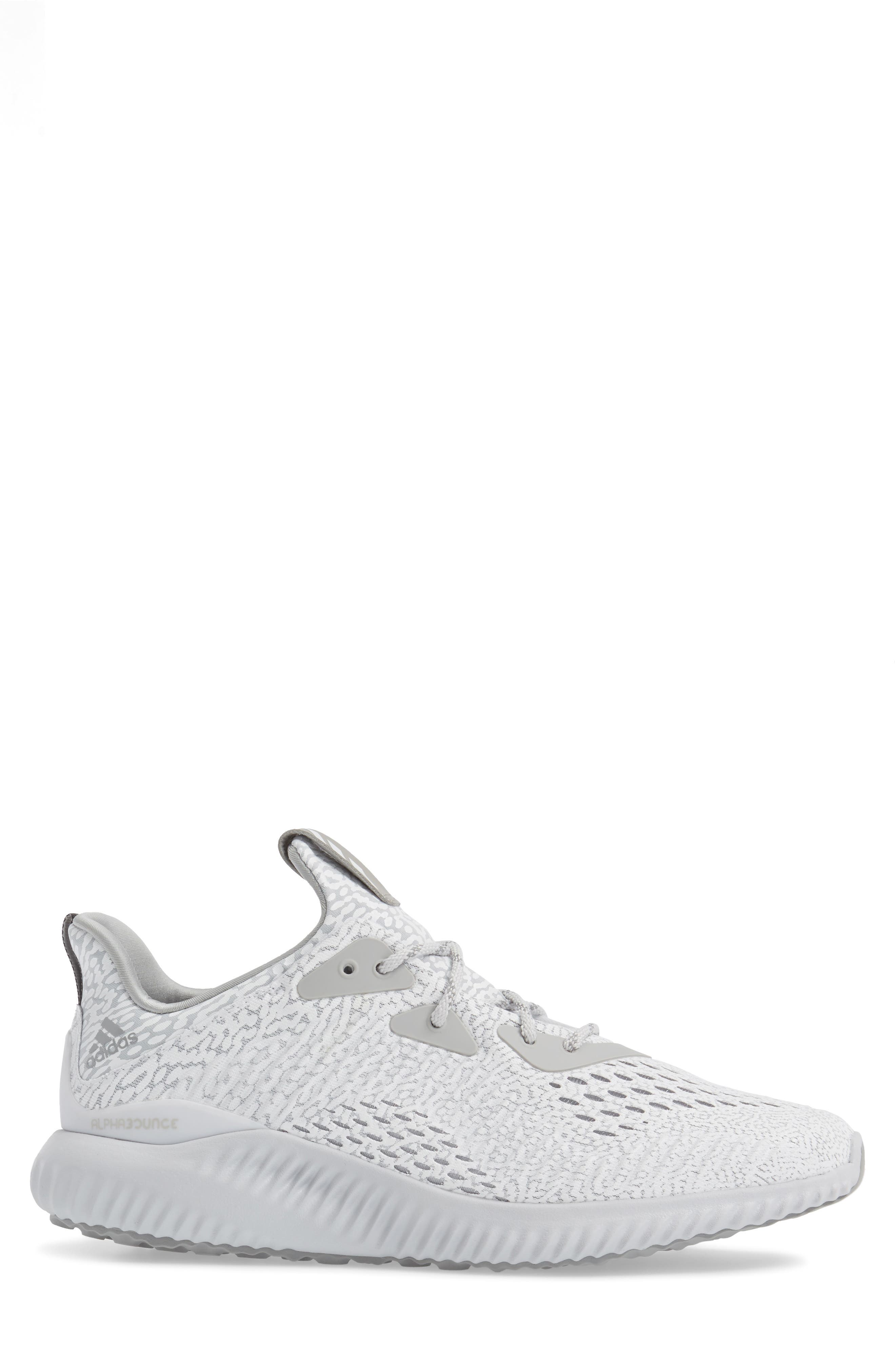 AlphaBounce Aramis Sneaker,                             Alternate thumbnail 3, color,                             Clear Grey/Core Black