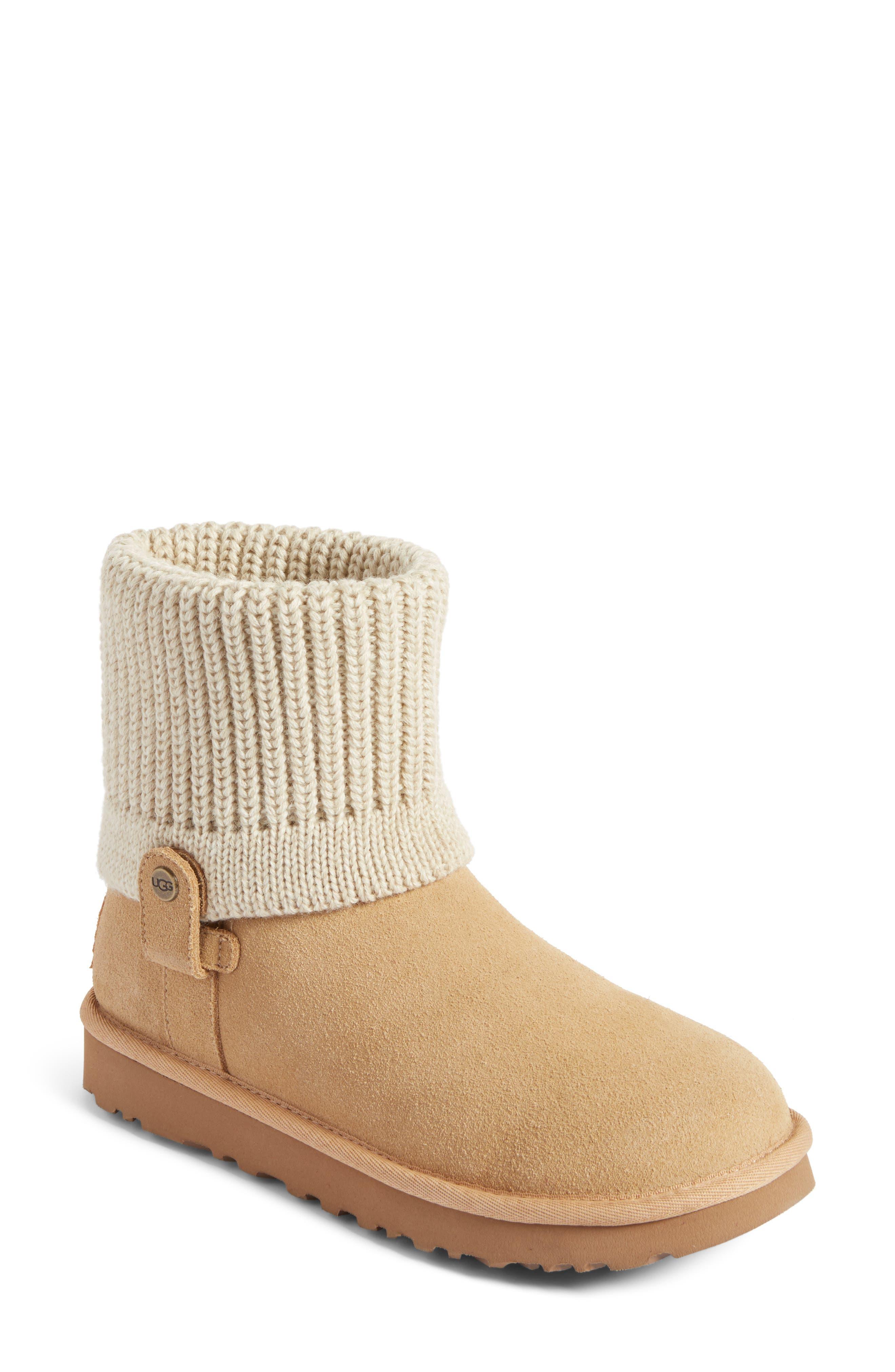 UGG® Saela Rib-Knit Cuff Boot (Women)