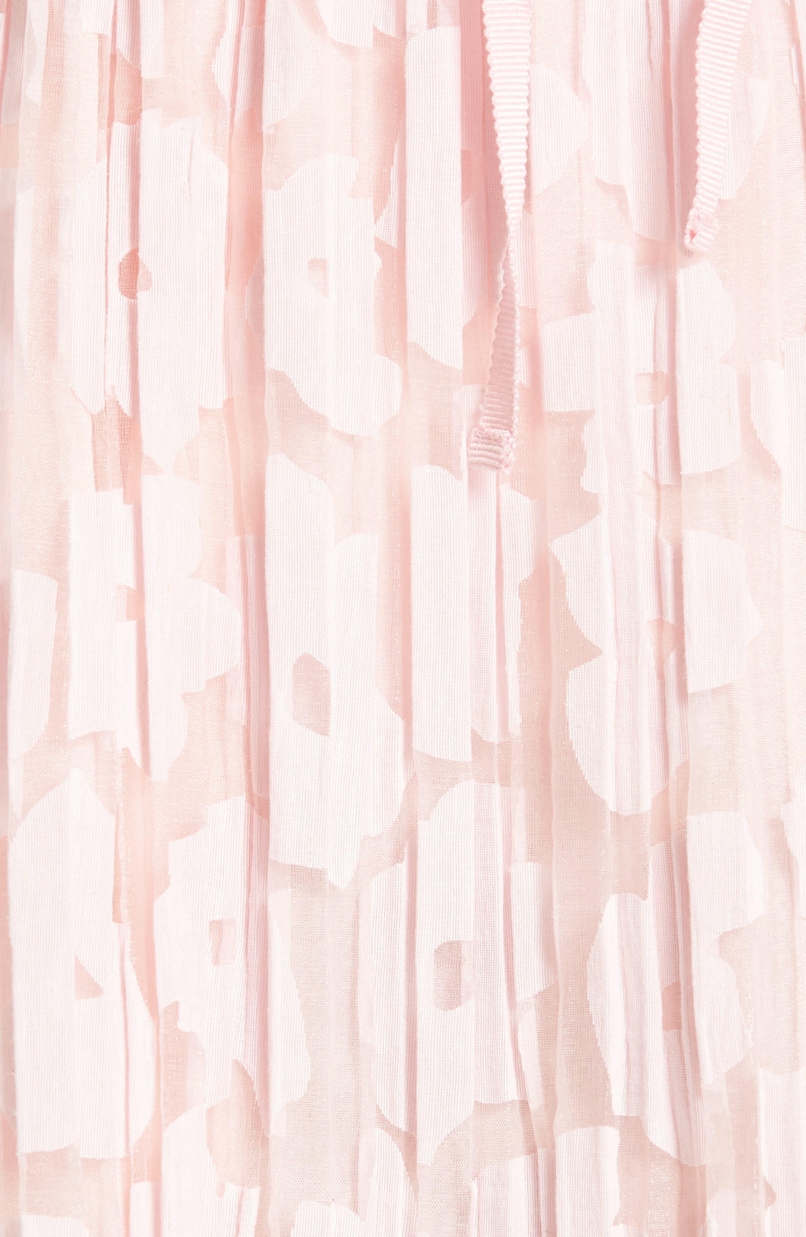 Karlie Burnout Skirt,                             Alternate thumbnail 5, color,                             Rose Pale