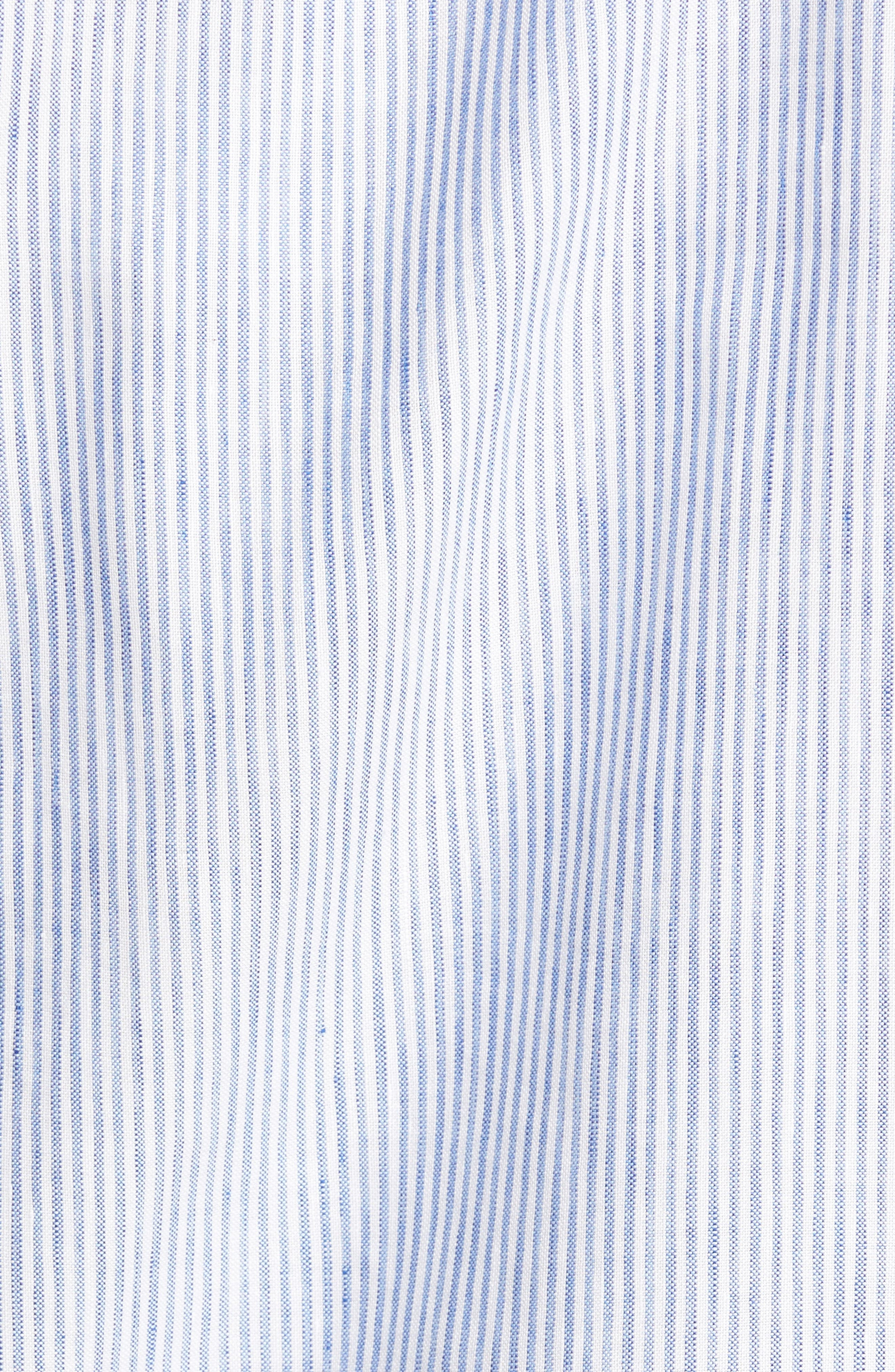 Alternate Image 5  - Vilebrequin Stripe Linen Blend Sport Shirt