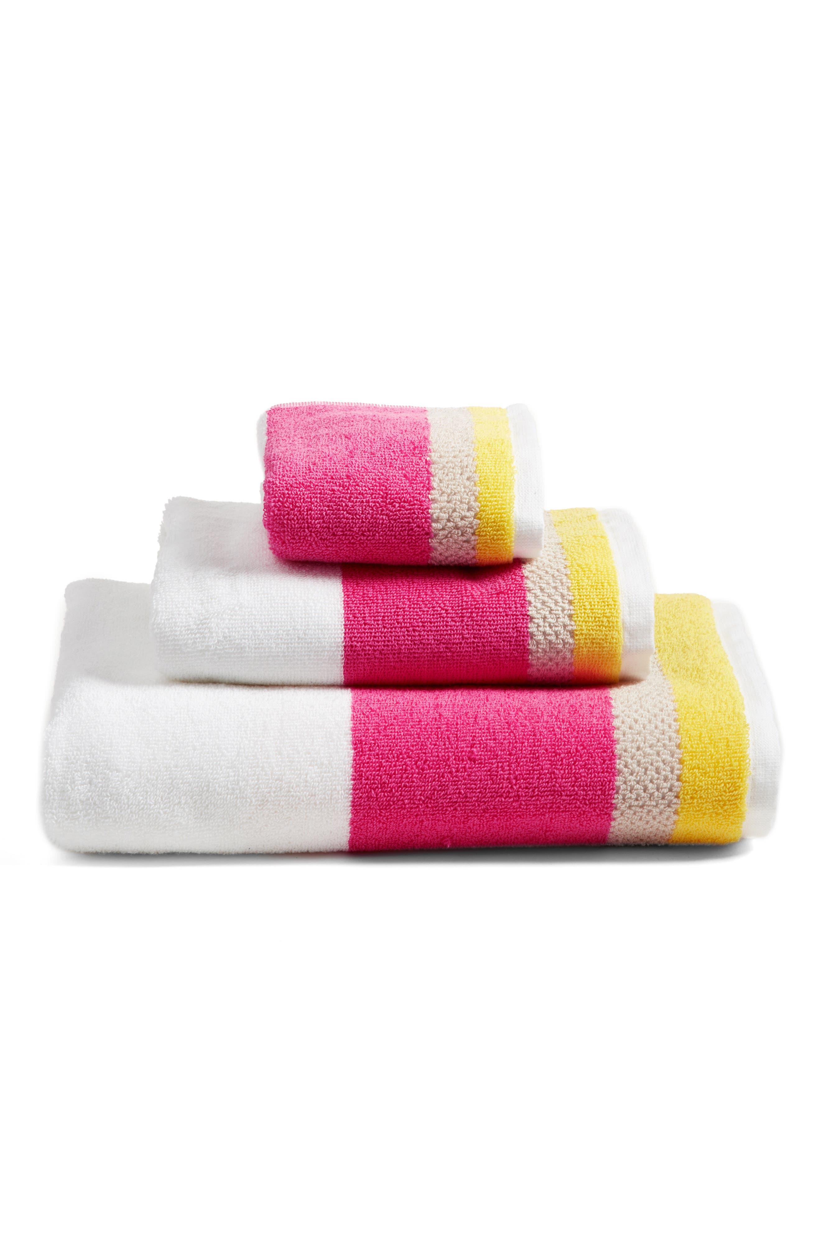 paintball floral bath towel,                             Alternate thumbnail 2, color,                             Pink/ Multi
