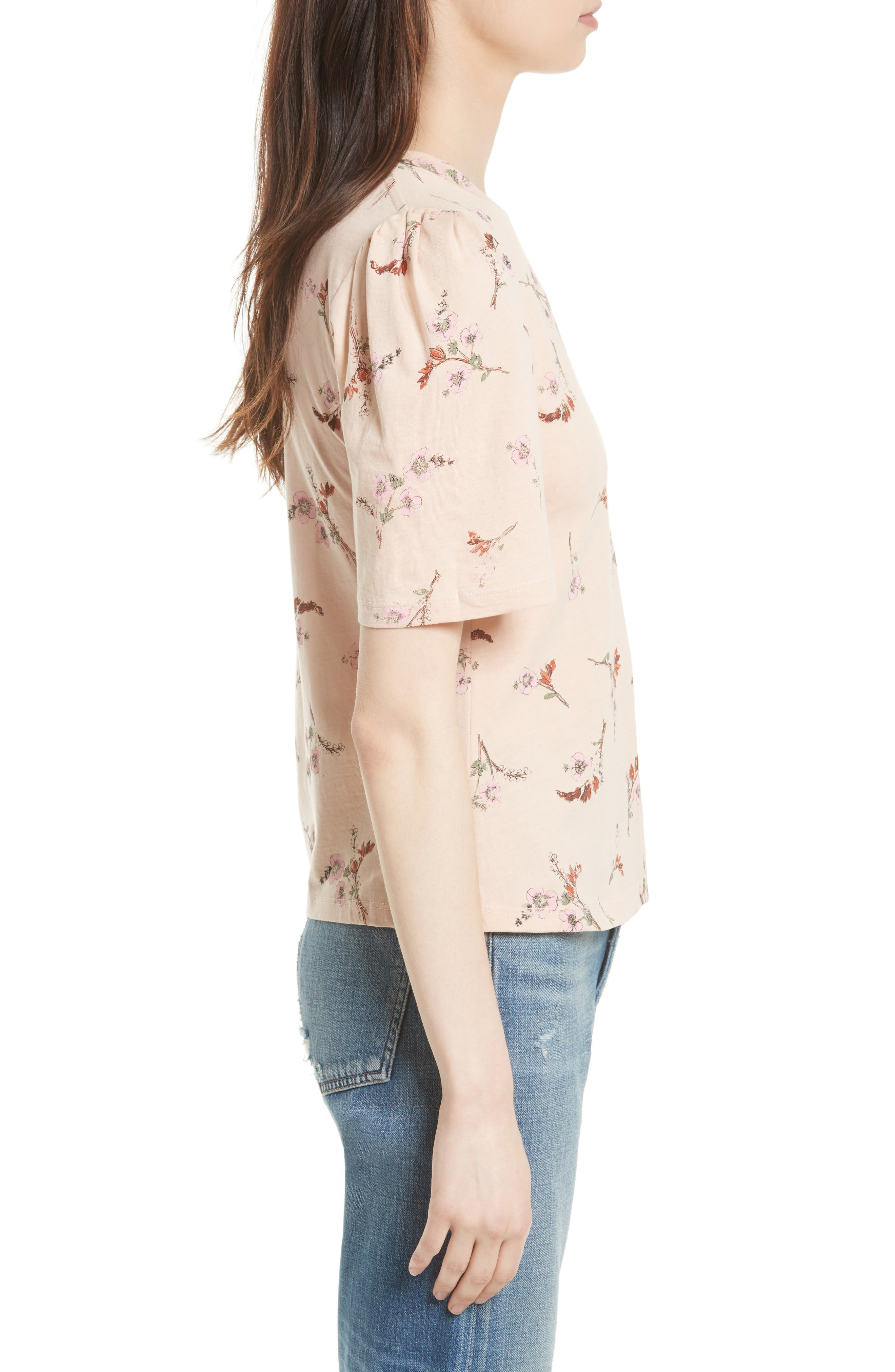 Alternate Image 3  - Rebecca Taylor Natalie Fleur Cotton Jersey Top