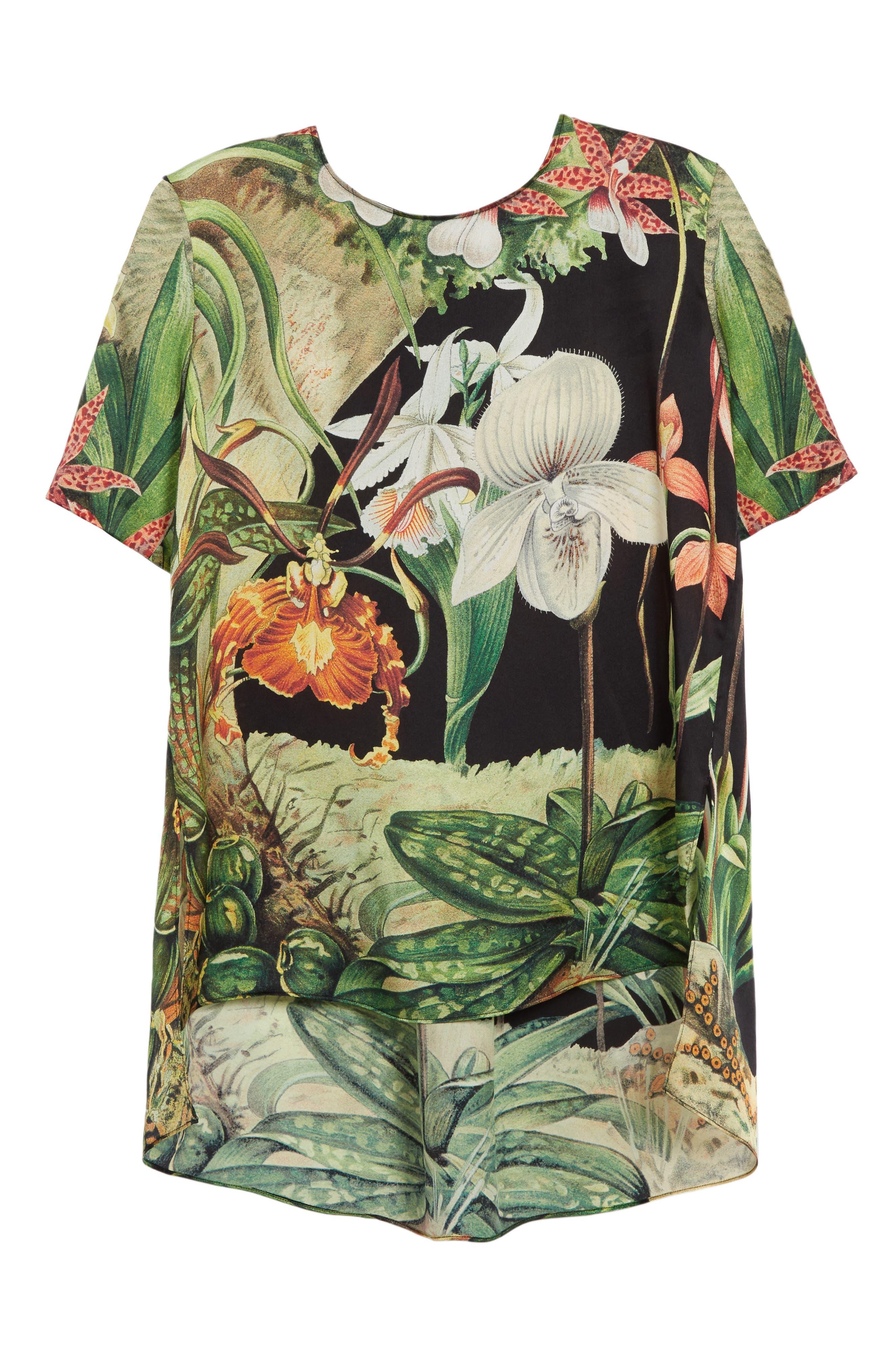 Alternate Image 4  - Adam Lippes Print Silk Tee