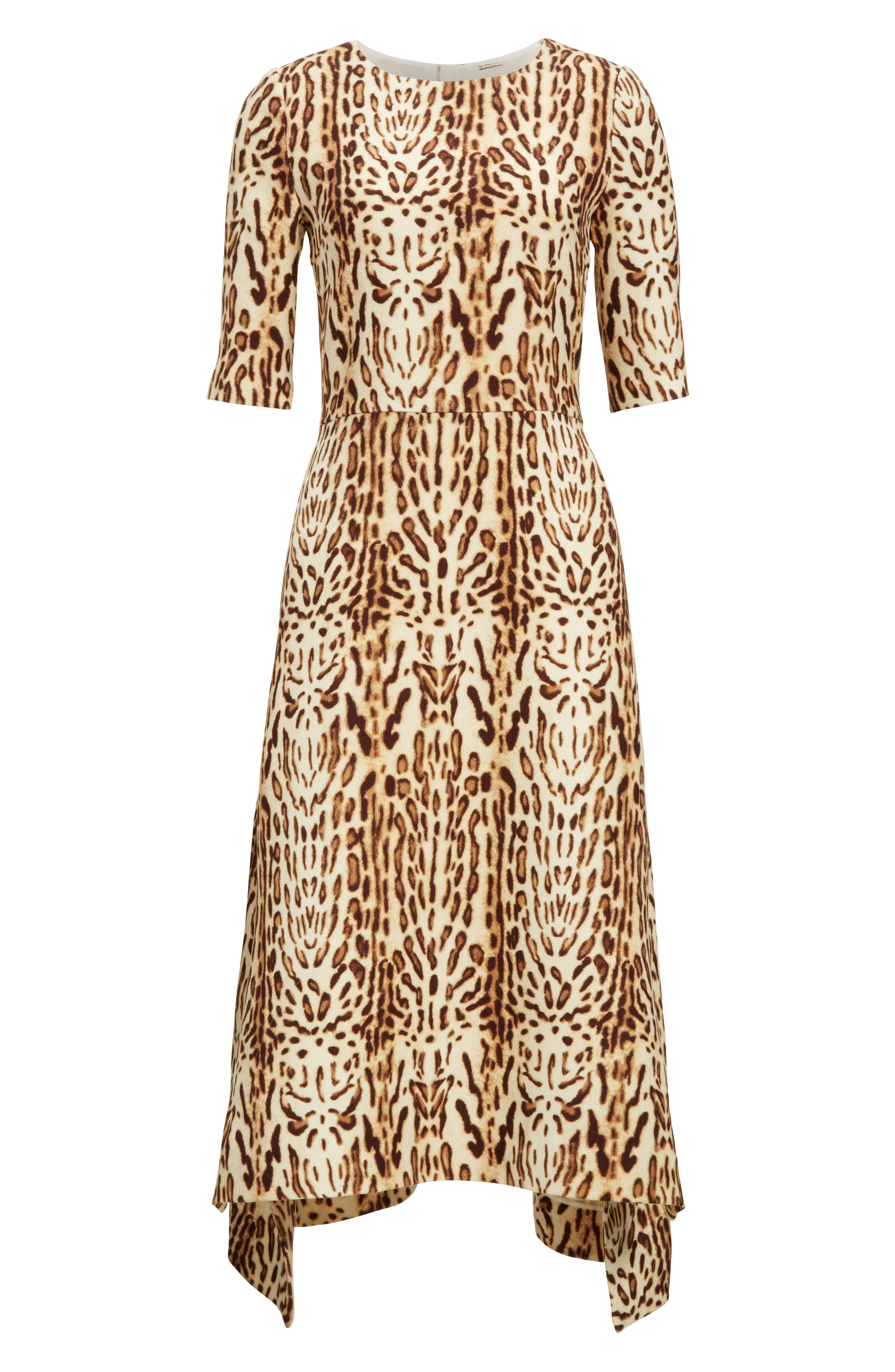 Alternate Image 4  - Adam Lippes Ocelot Print Wool Midi Dress