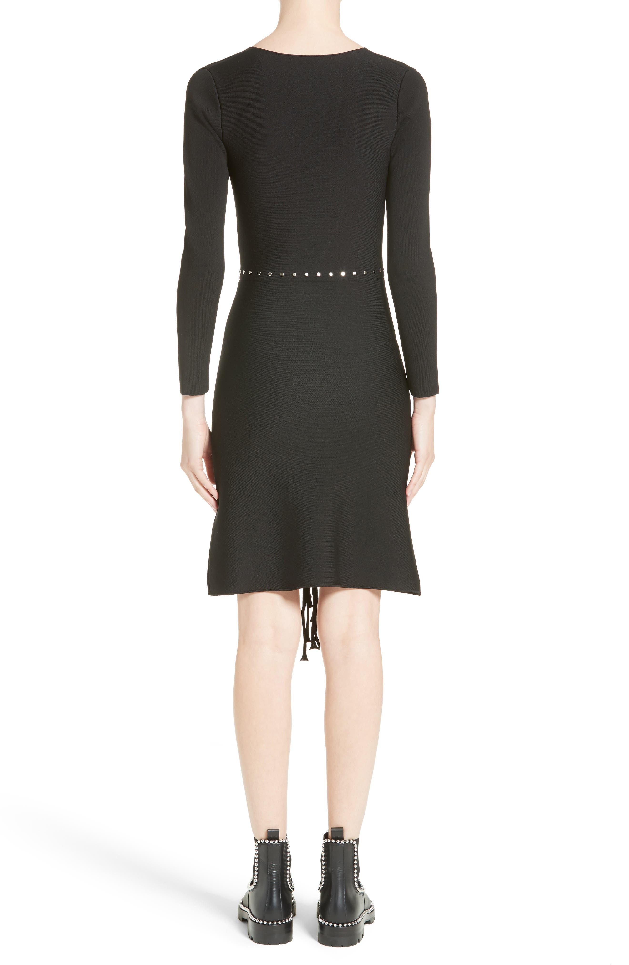Alternate Image 2  - Alexander Wang Knotted Fringe Knit Dress