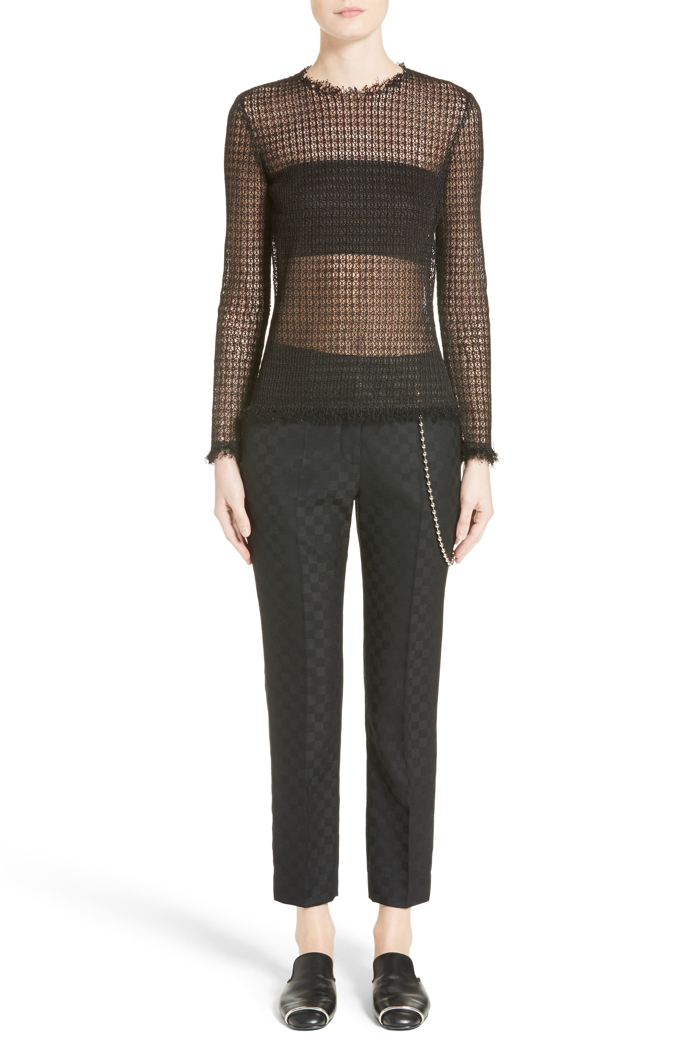 Alternate Image 7  - Alexander Wang Chain Trim Checkerboard Pants