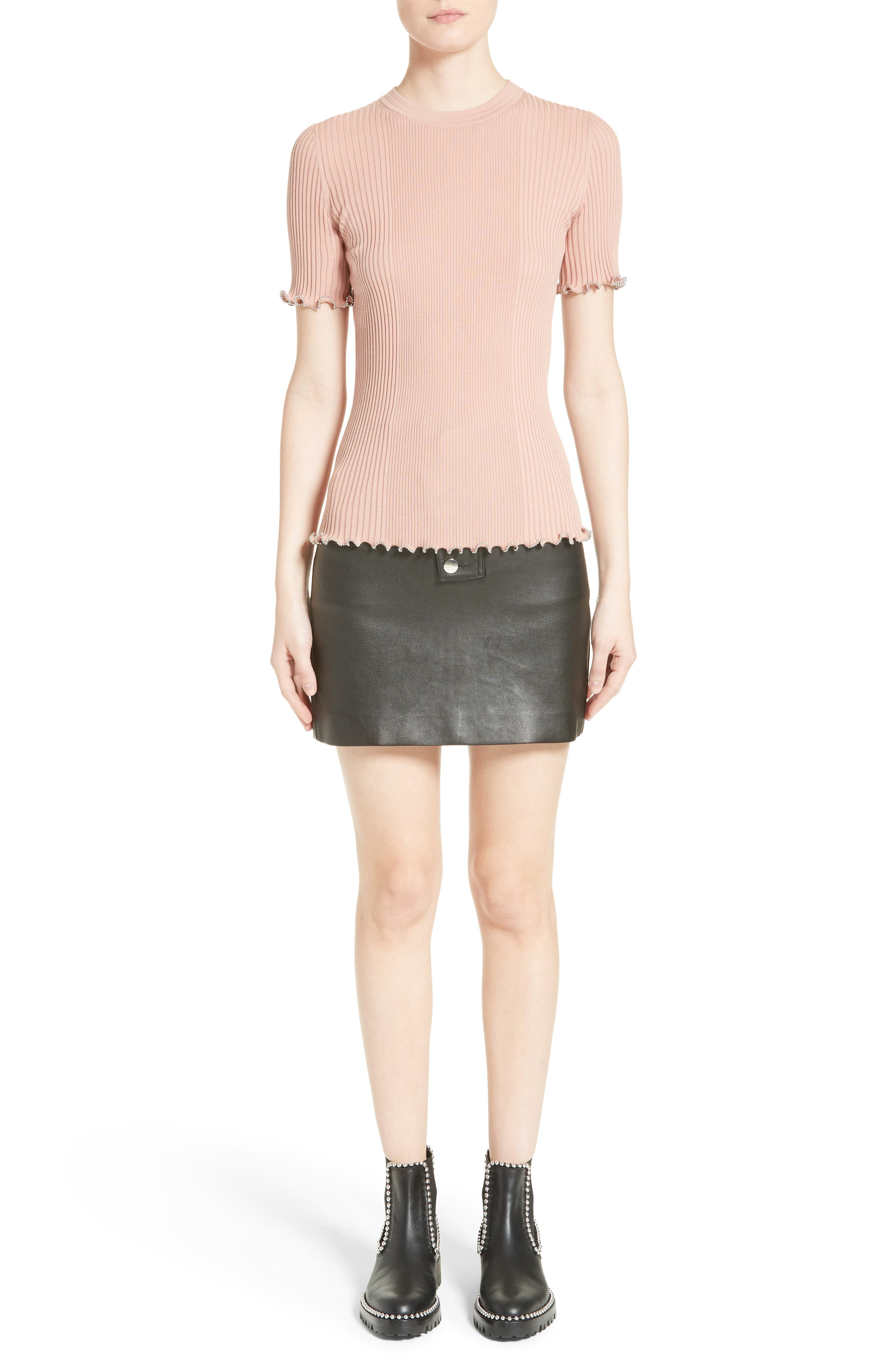 Alternate Image 8  - Alexander Wang Snap Leather Miniskirt