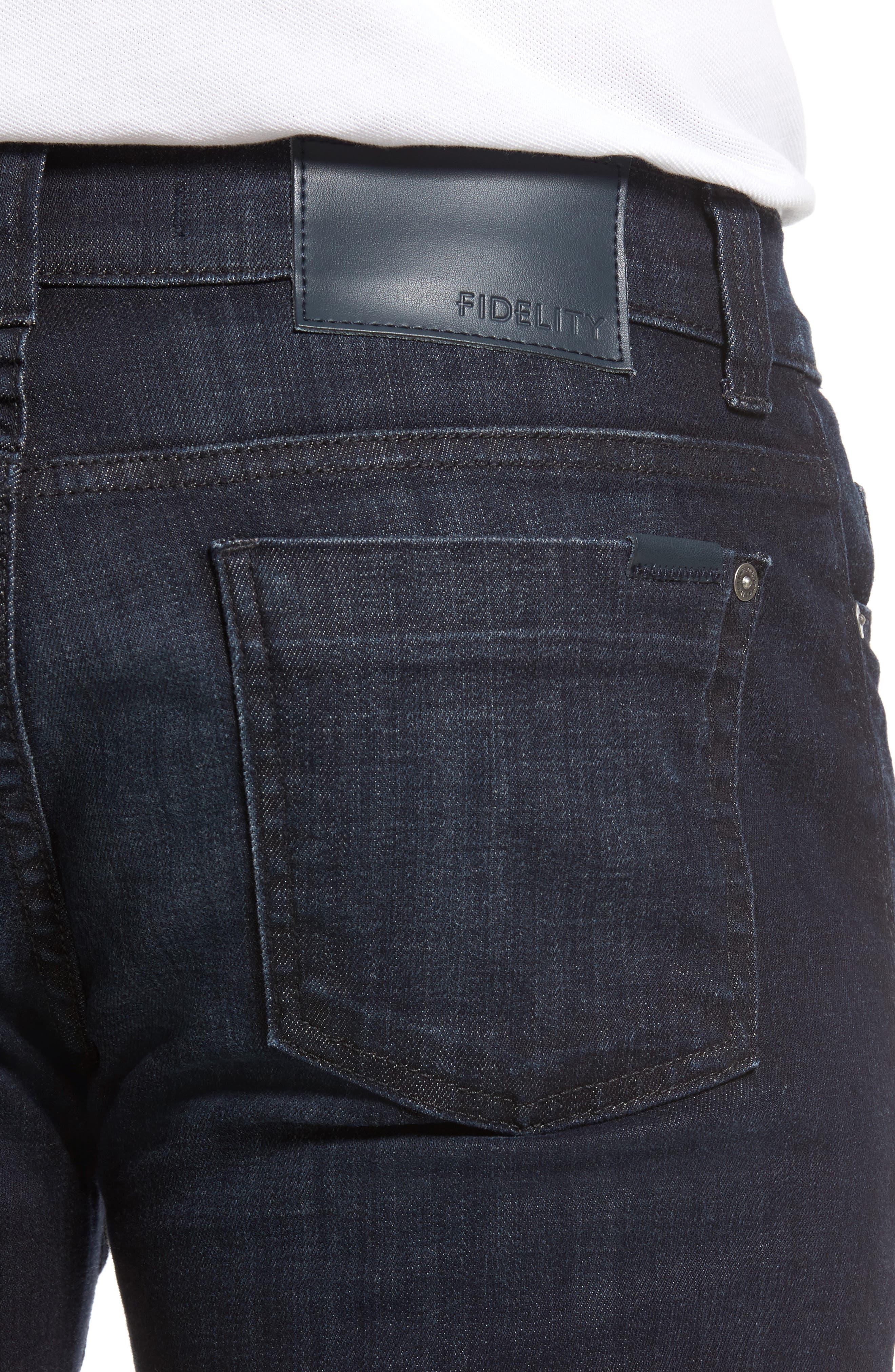 Alternate Image 4  - Fidelity Denim 5011 Relaxed Fit Jeans (Harvard)