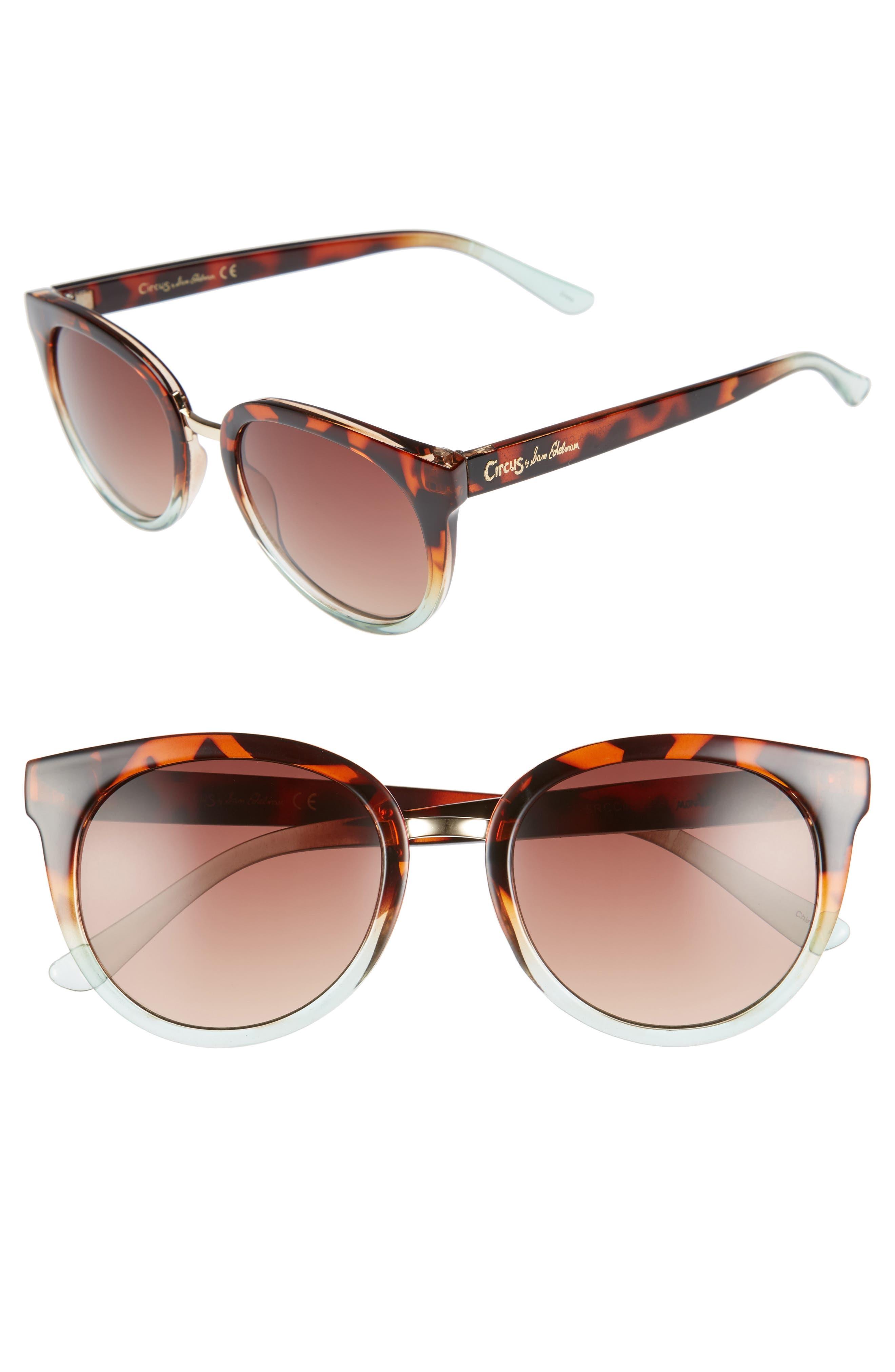 51mm Ombré Sunglasses,                         Main,                         color, Tortoise/ Aqua