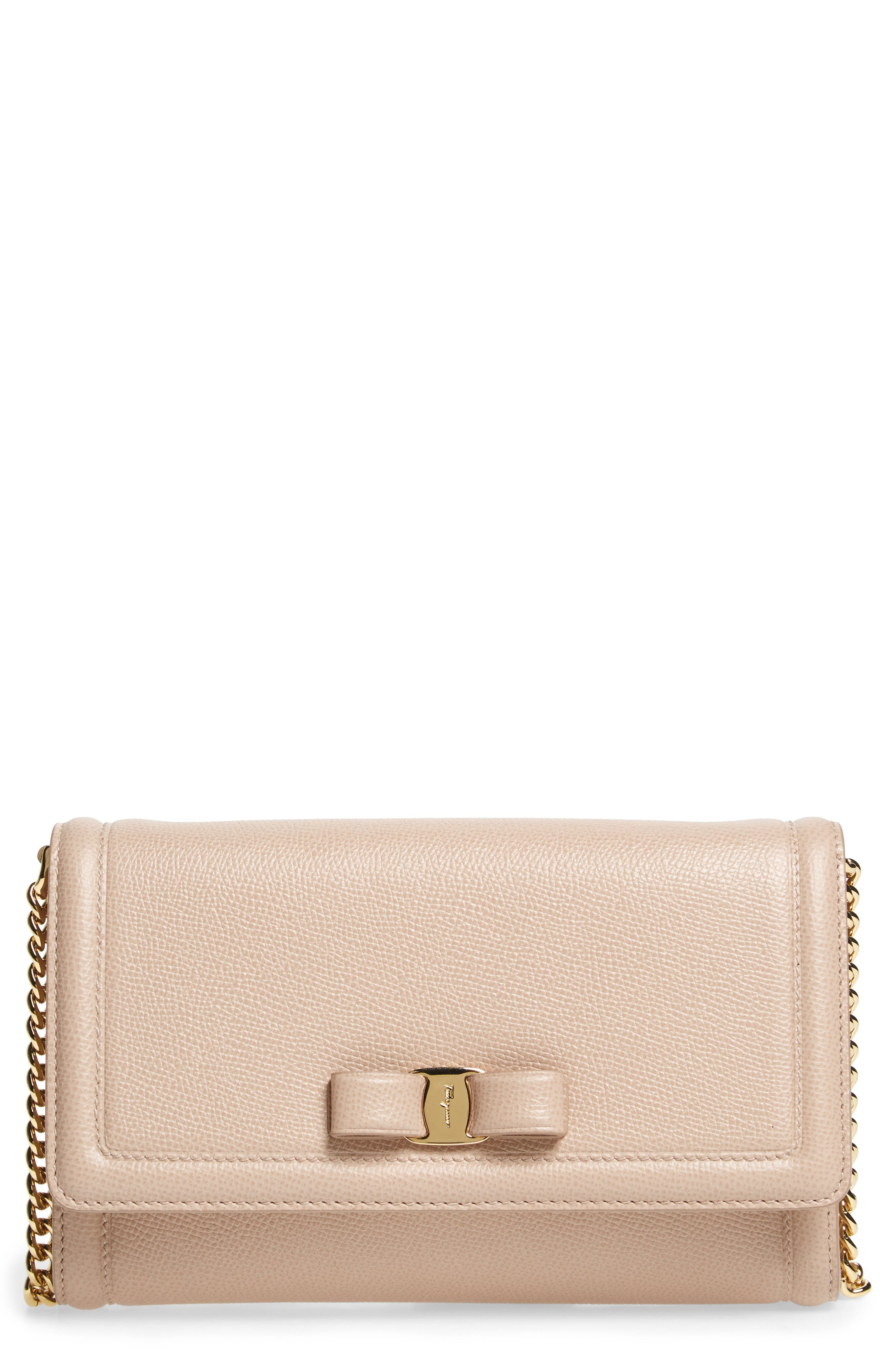 Alternate Image 1 Selected - Salvatore Ferragamo Mini Vara Leather Crossbody Bag