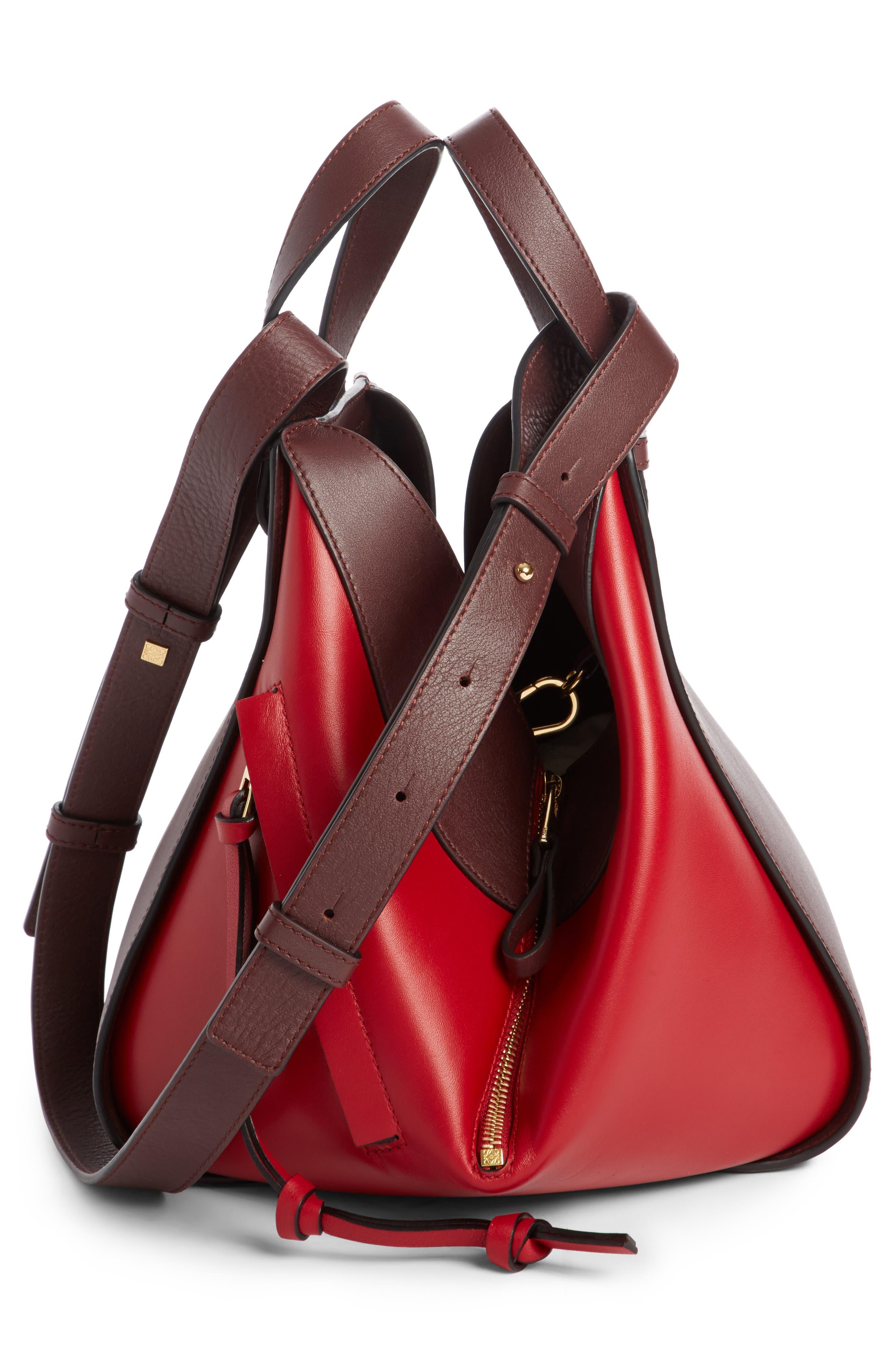 Small Hammock Leather Shoulder Bag,                             Alternate thumbnail 3, color,                             Oxblood/ Rouge