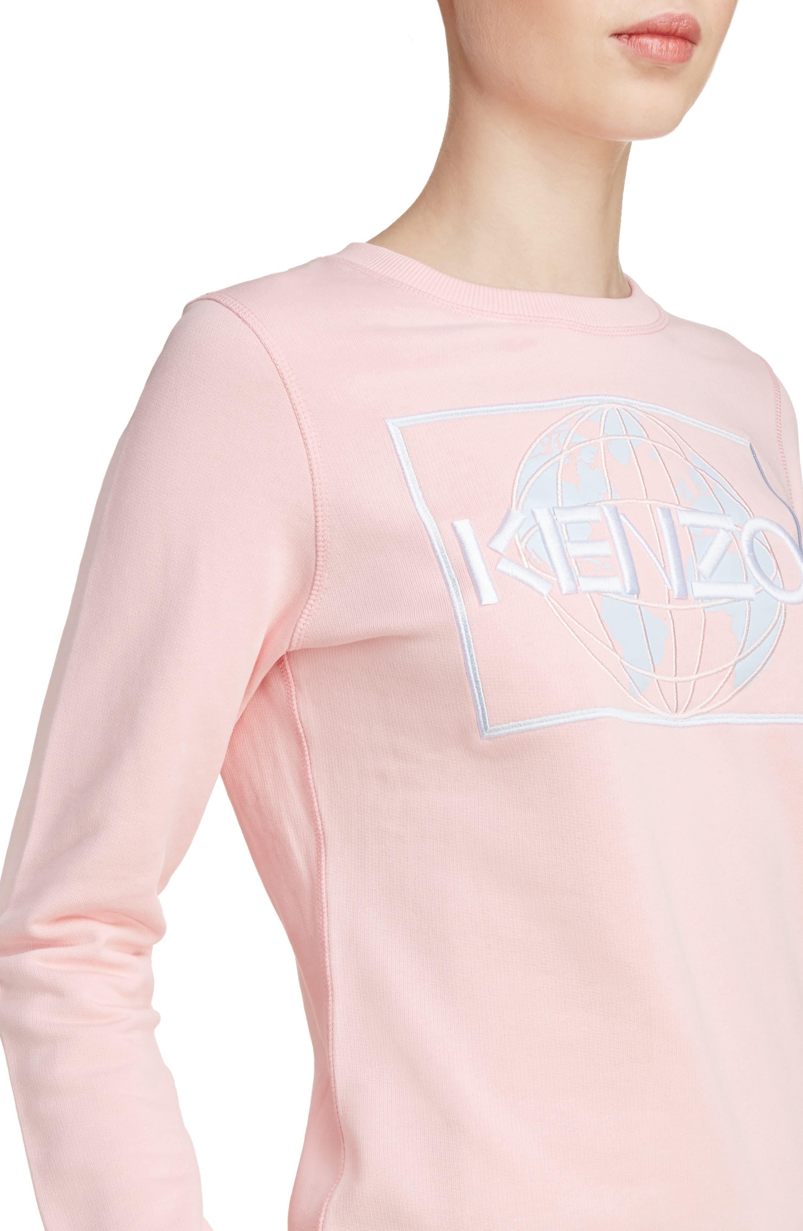 Alternate Image 4  - KENZO Embroidered Cotton Sweatshirt