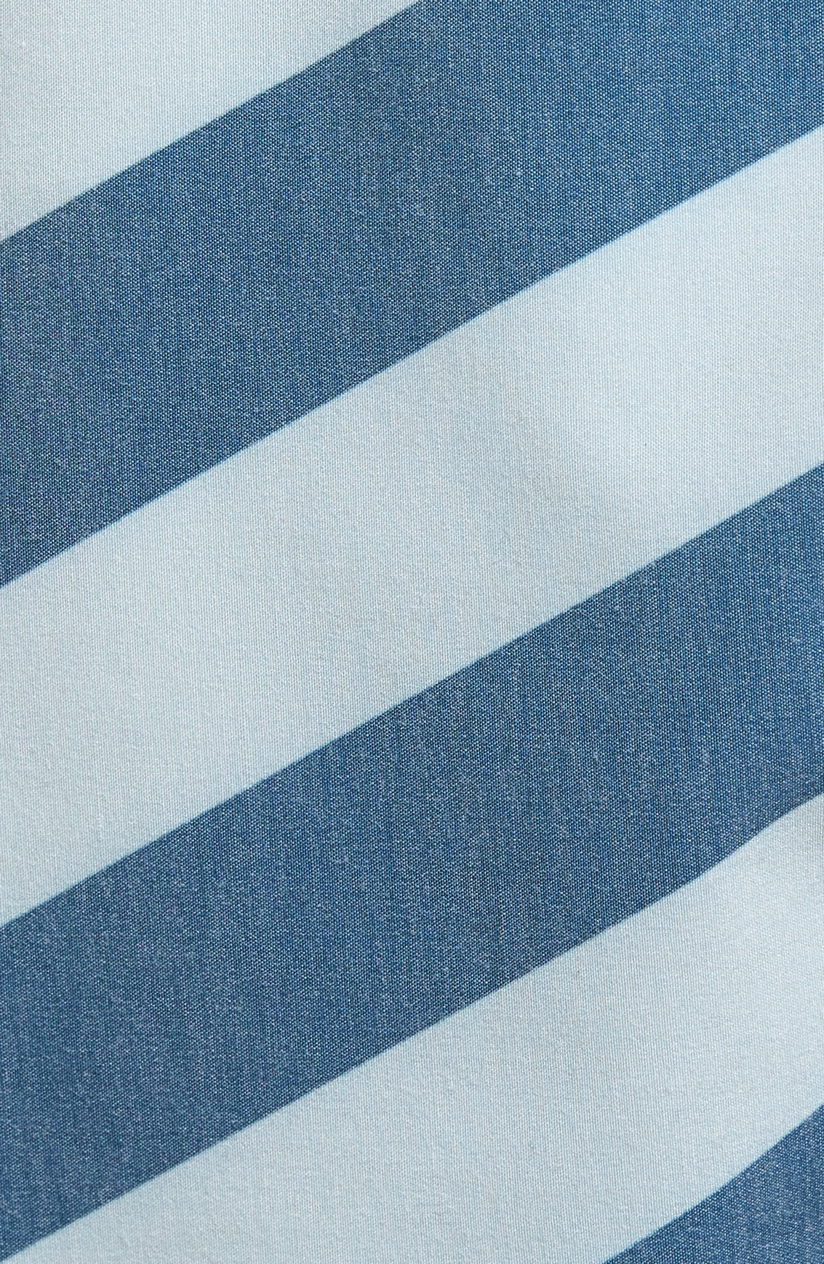 Stripey Slinger Board Shorts,                             Alternate thumbnail 5, color,                             Flight Blue