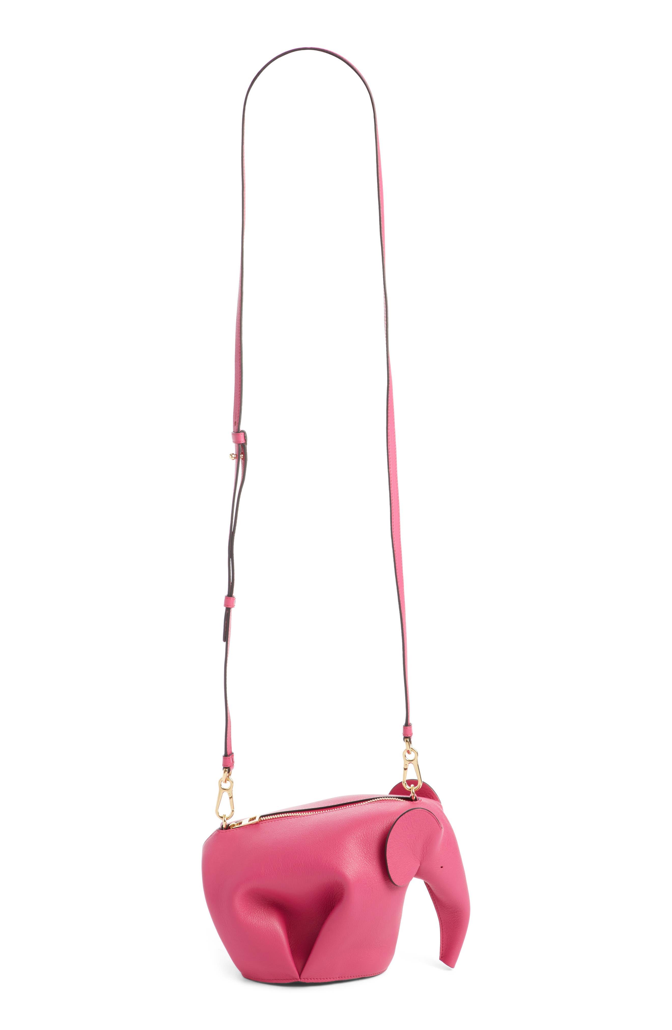 'Mini Elephant' Crossbody Bag,                             Main thumbnail 1, color,                             Fuchsia