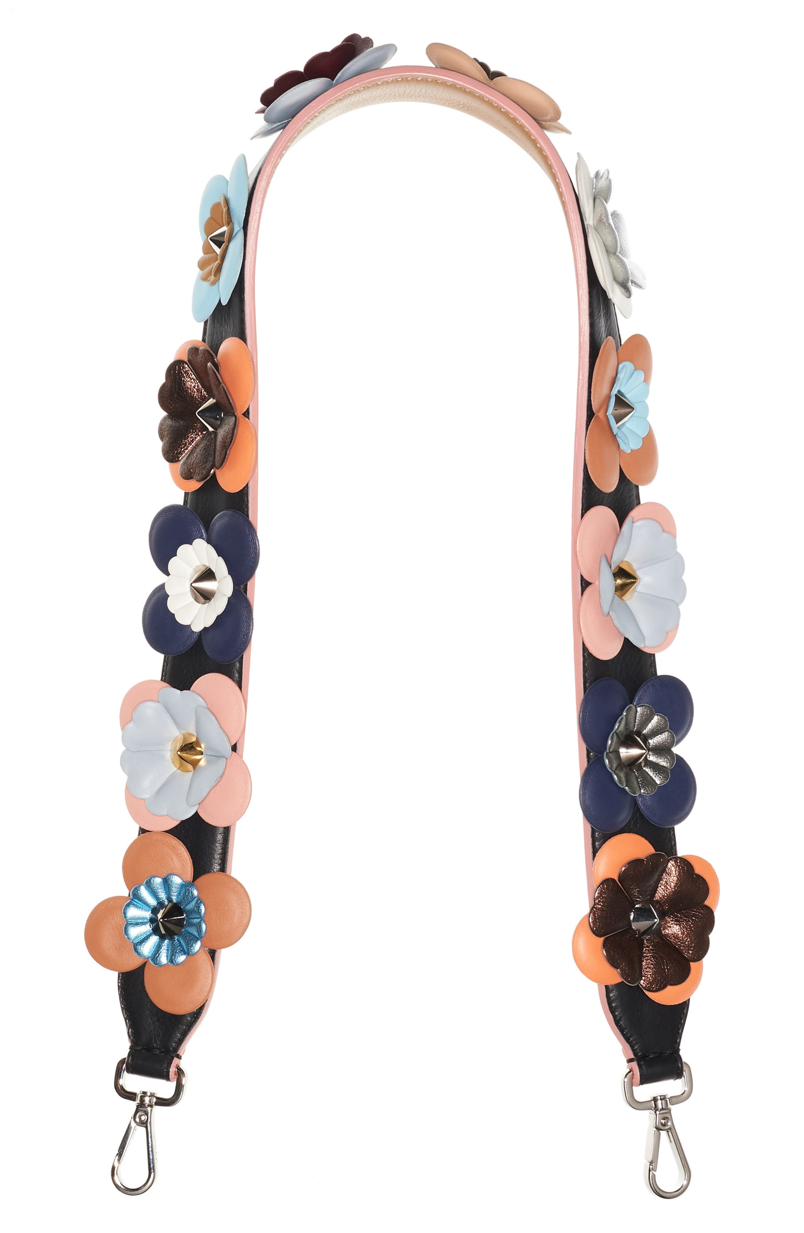 FENDI Strap You Multi Flower Leather Guitar Bag Strap