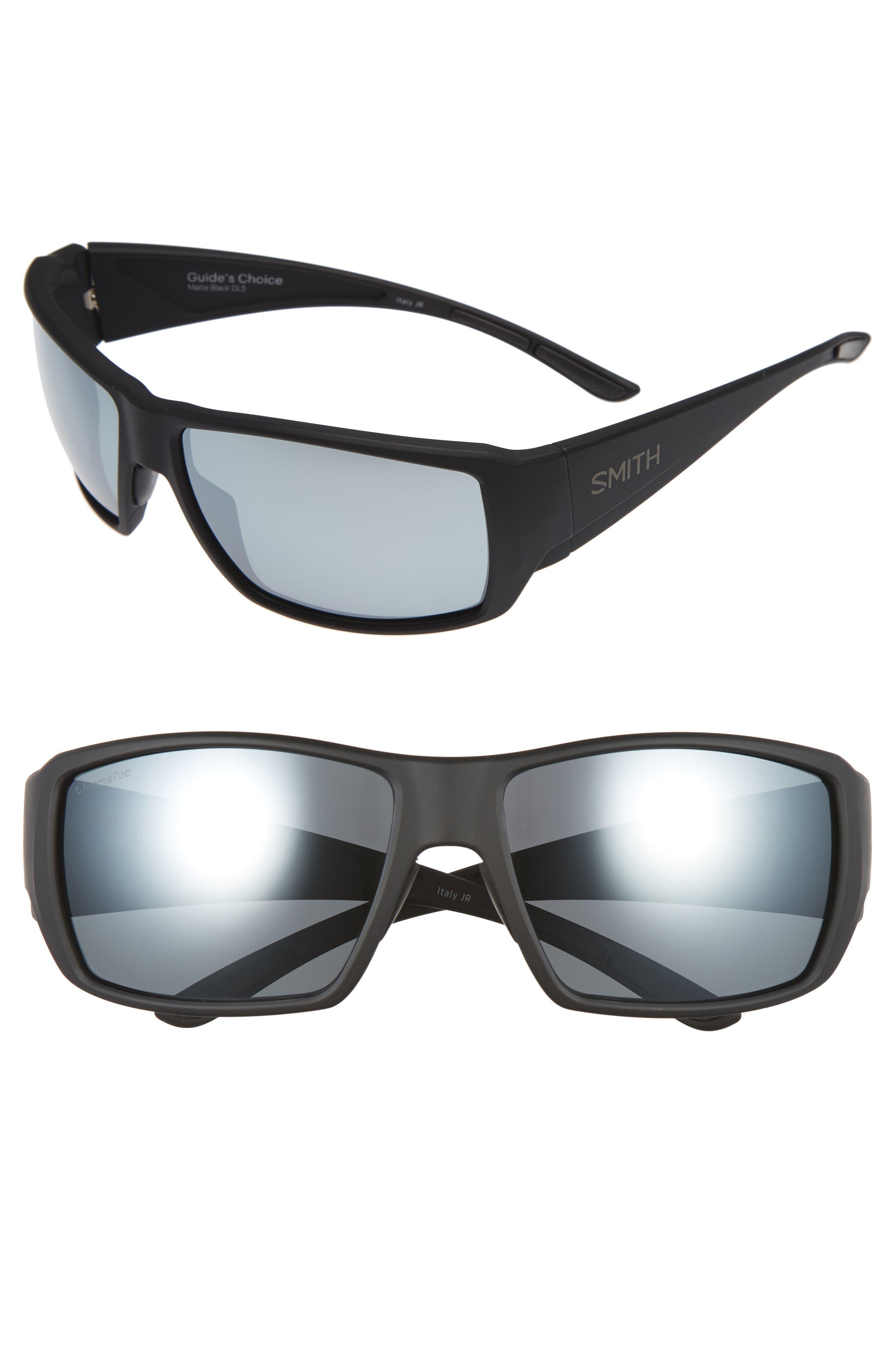 d33682333678 Smith  Guide S Choice  62Mm Polarized Sunglasses - Matte Black  Platinum