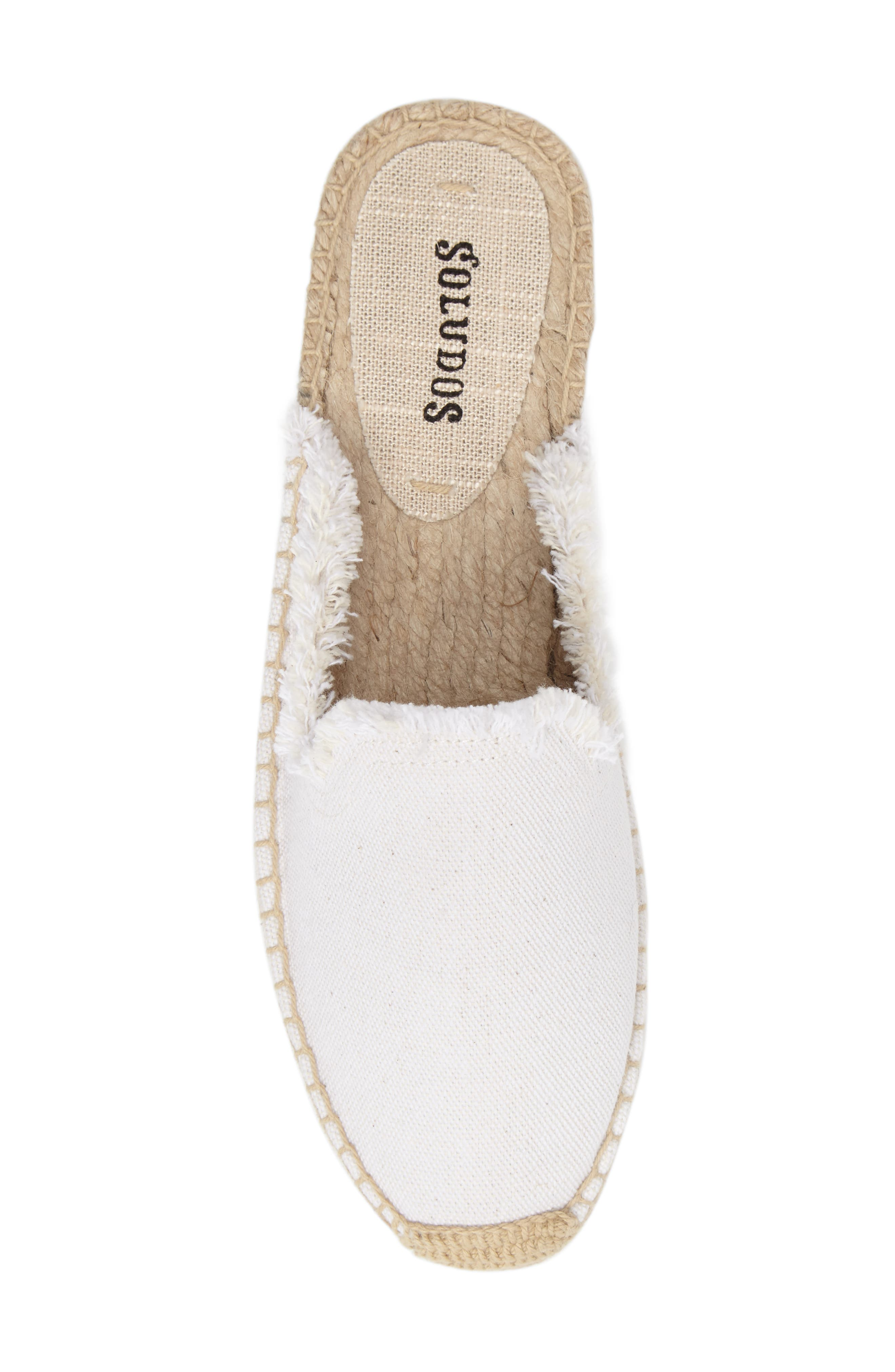 Frayed Loafer Mule,                             Alternate thumbnail 5, color,                             White Canvas