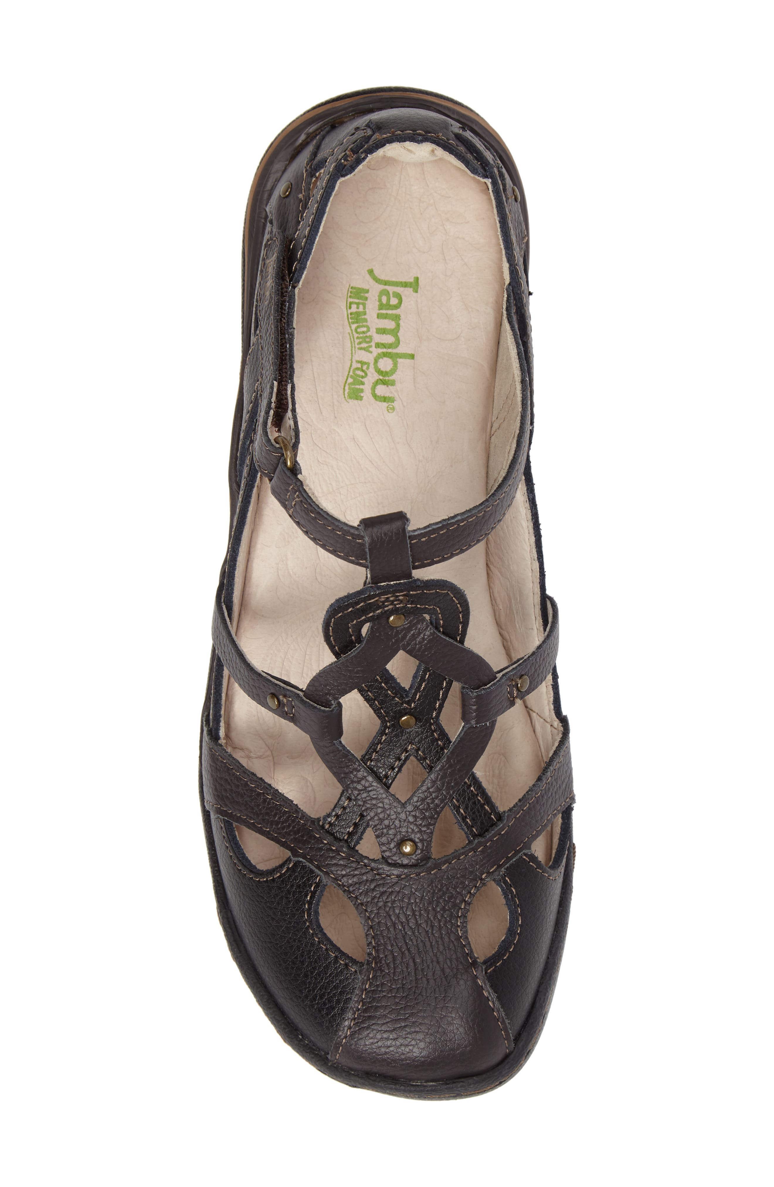 Spain Studded Strappy Sneaker,                             Alternate thumbnail 5, color,                             Black Leather