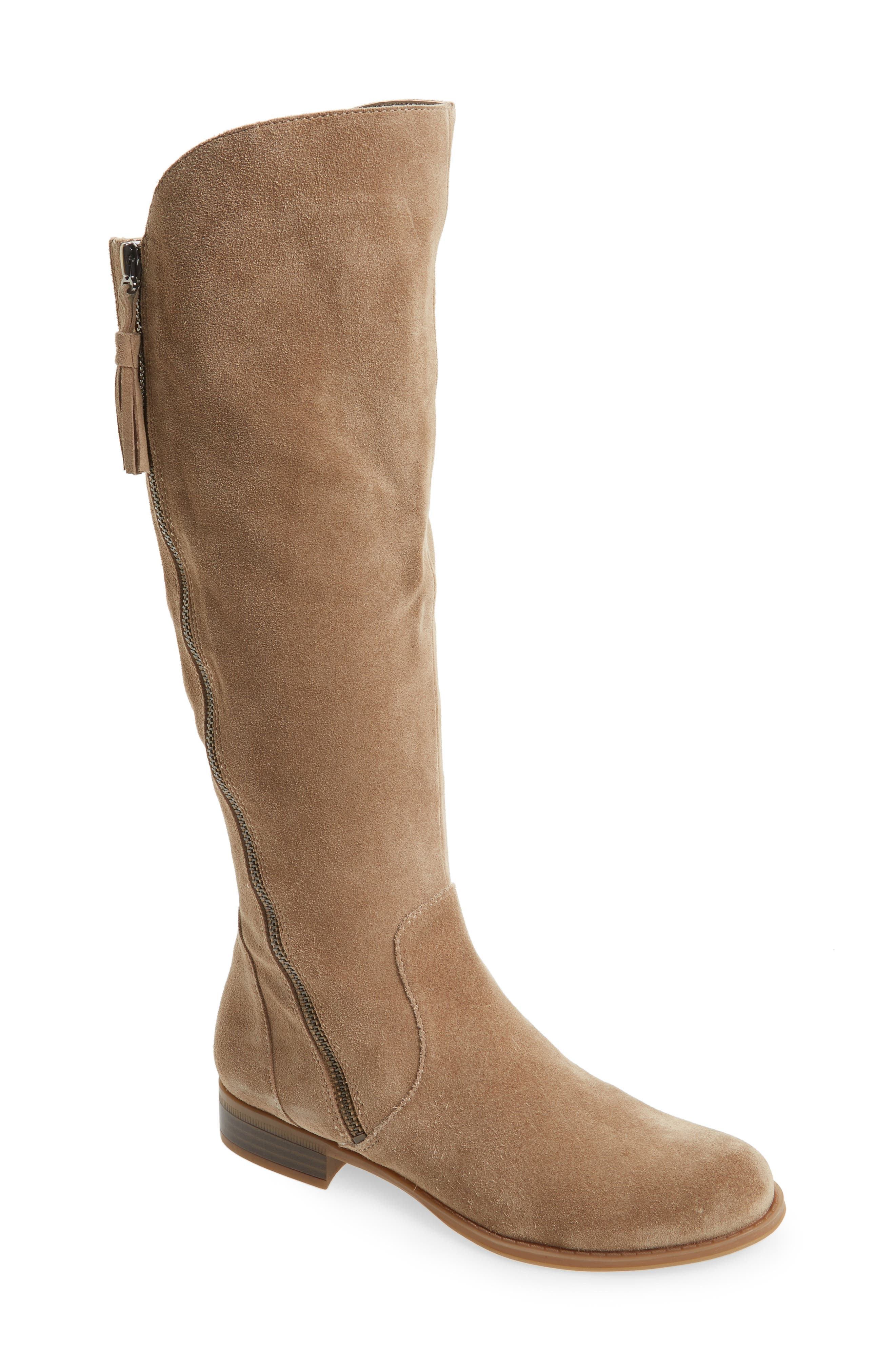 Jinnie Tall Boot,                             Main thumbnail 1, color,                             Oatmeal Suede