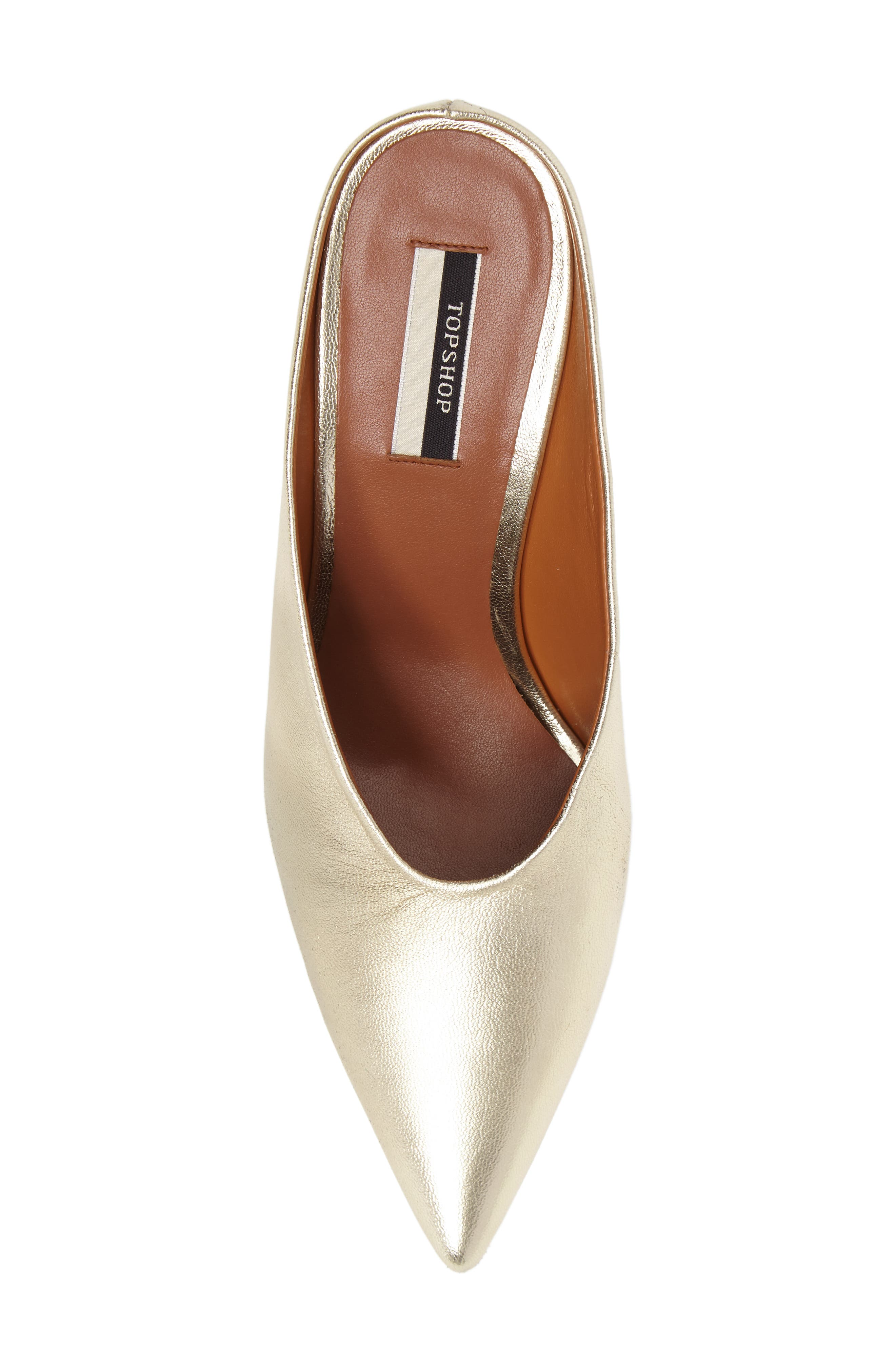 Juicy Pointy Toe Pump,                             Alternate thumbnail 5, color,                             Gold Leather