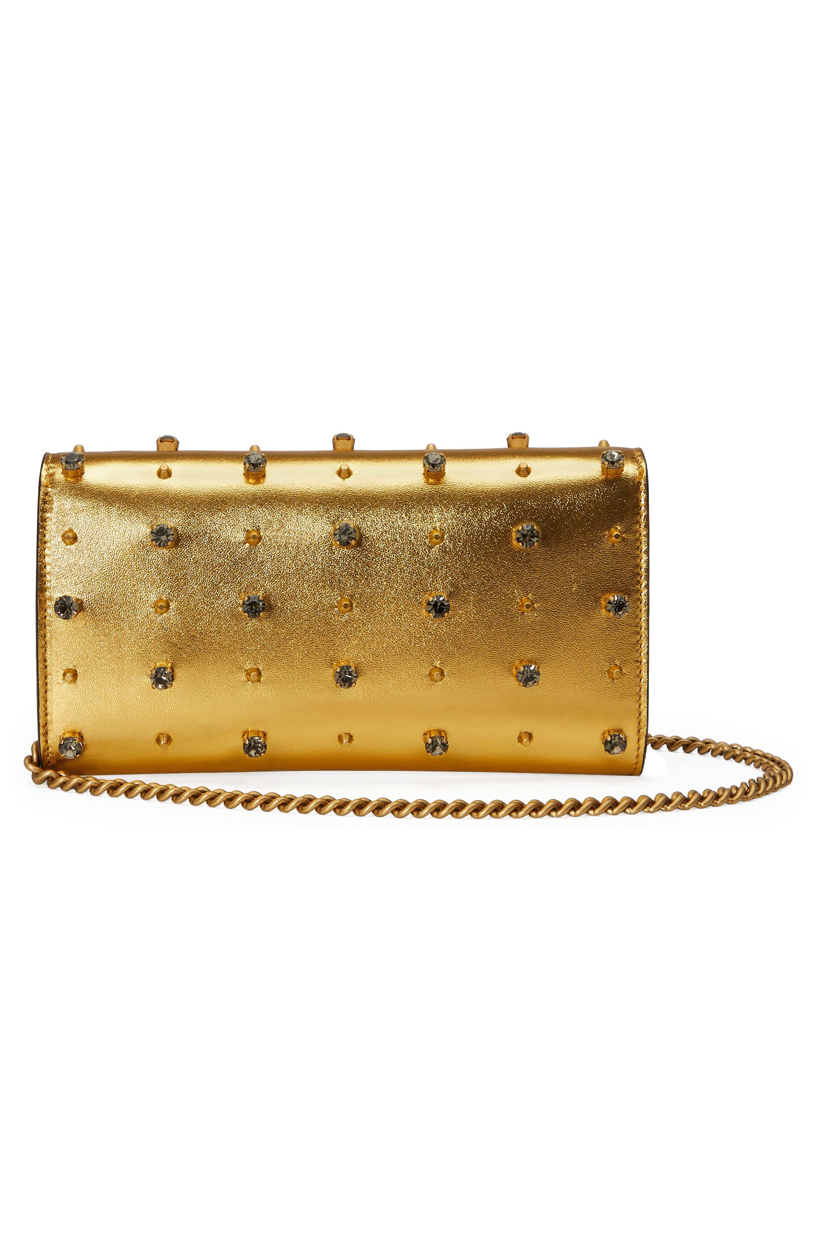 Alternate Image 2  - Gucci Broadway Metallic Leather Shoulder Bag