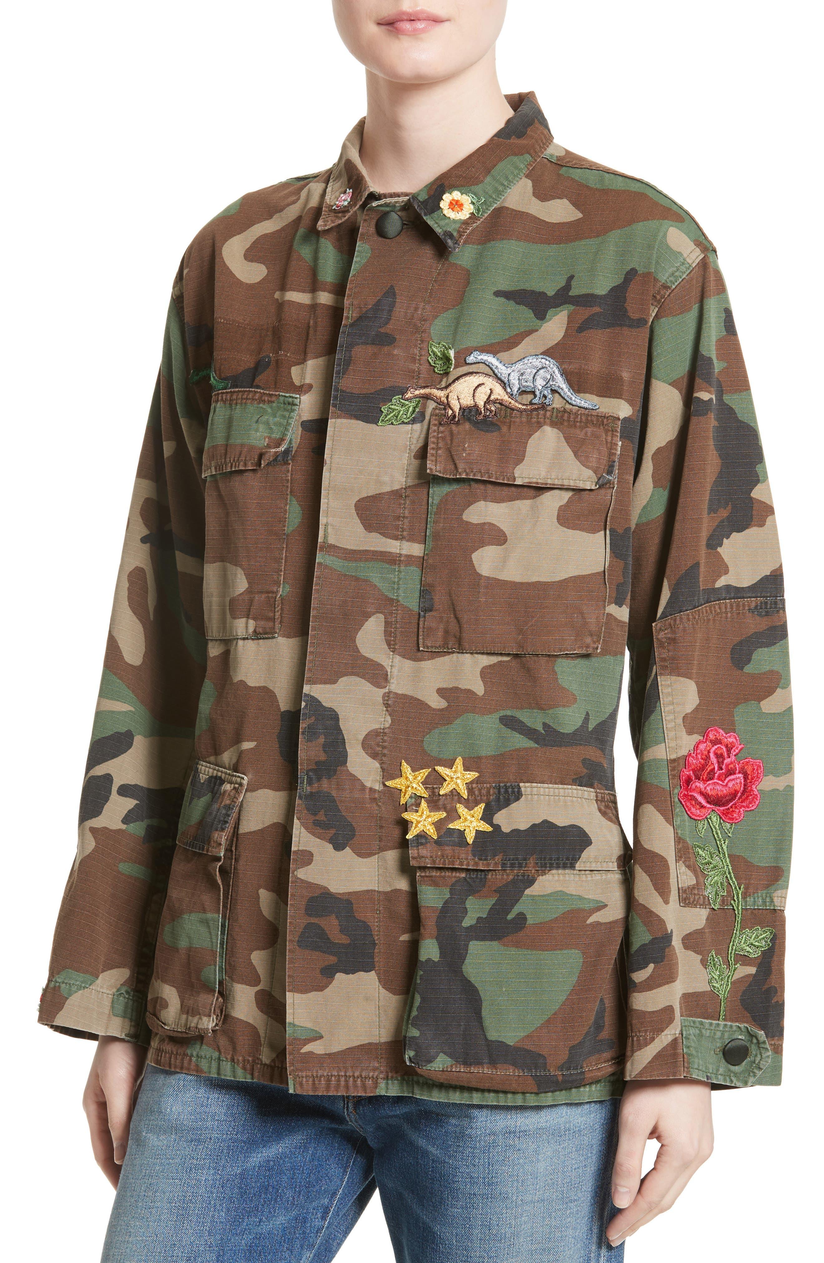 Alternate Image 4  - Harvey Faircloth Vintage Woodland Camo Jacket