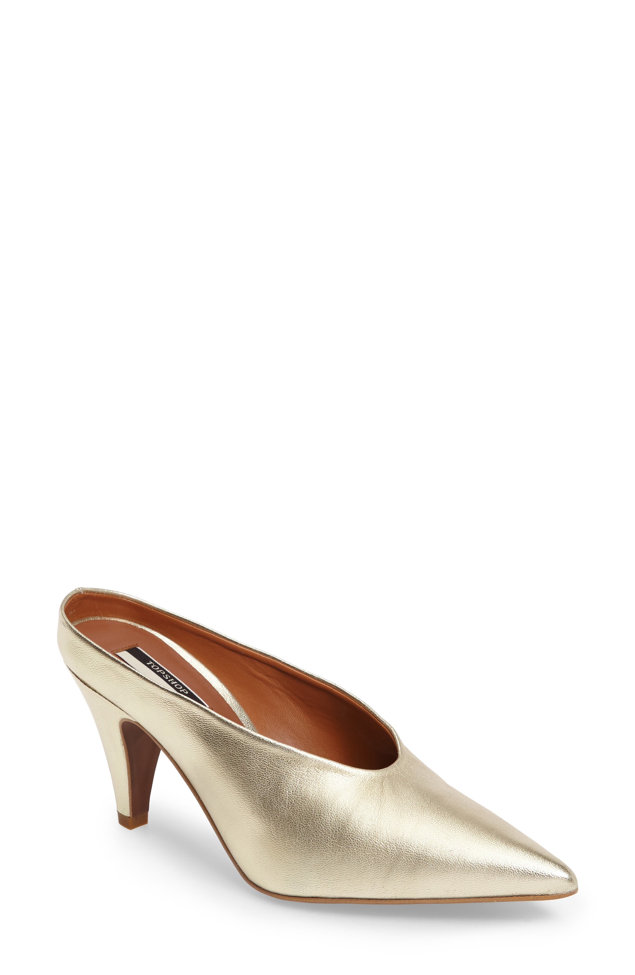 Juicy Pointy Toe Pump,                         Main,                         color, Gold Leather