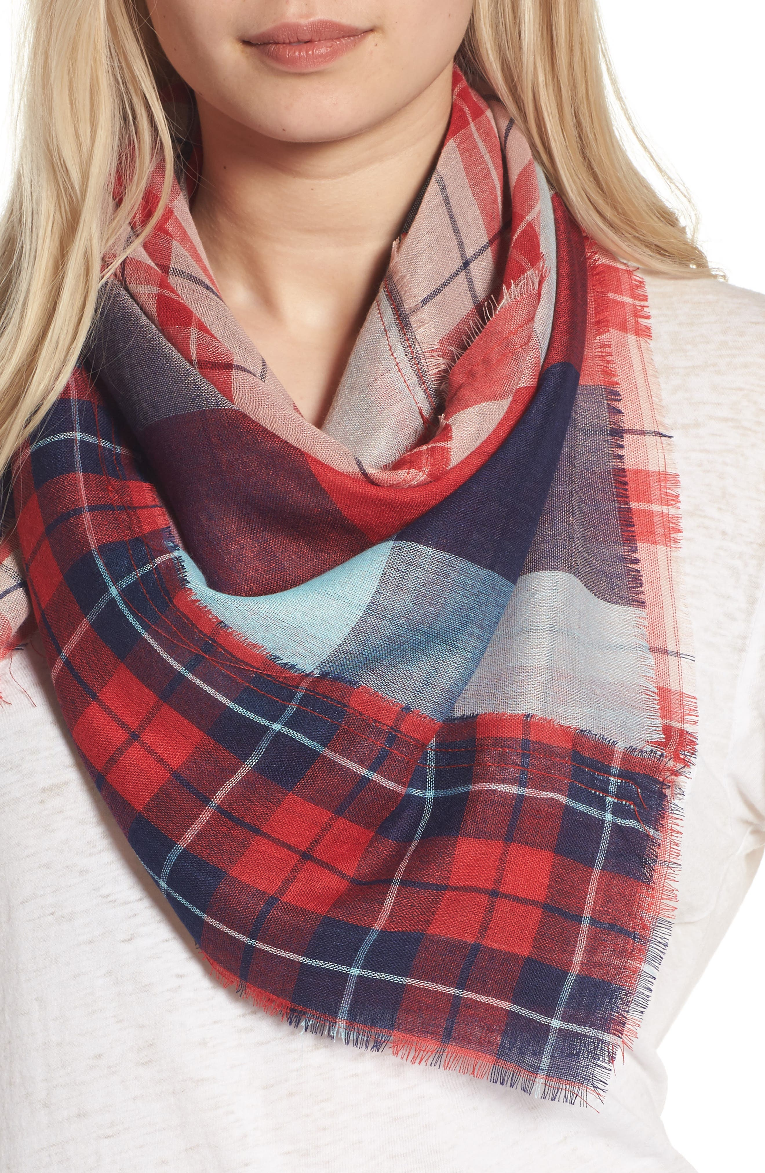 Main Image - BP. Stitch Patchwork Plaid Scarf
