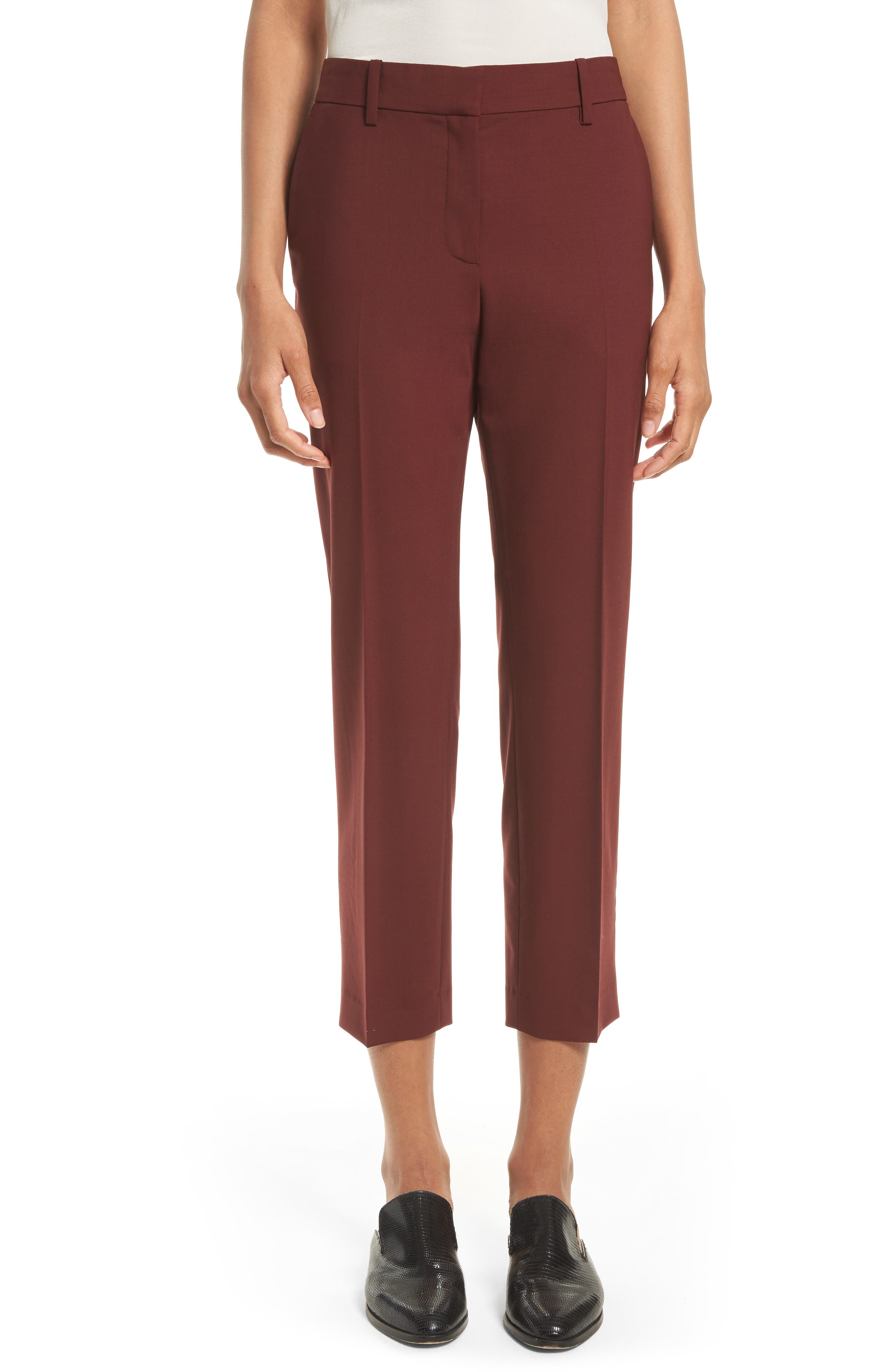 THEORY Treeca 2 Betoken Wool Blend Pants