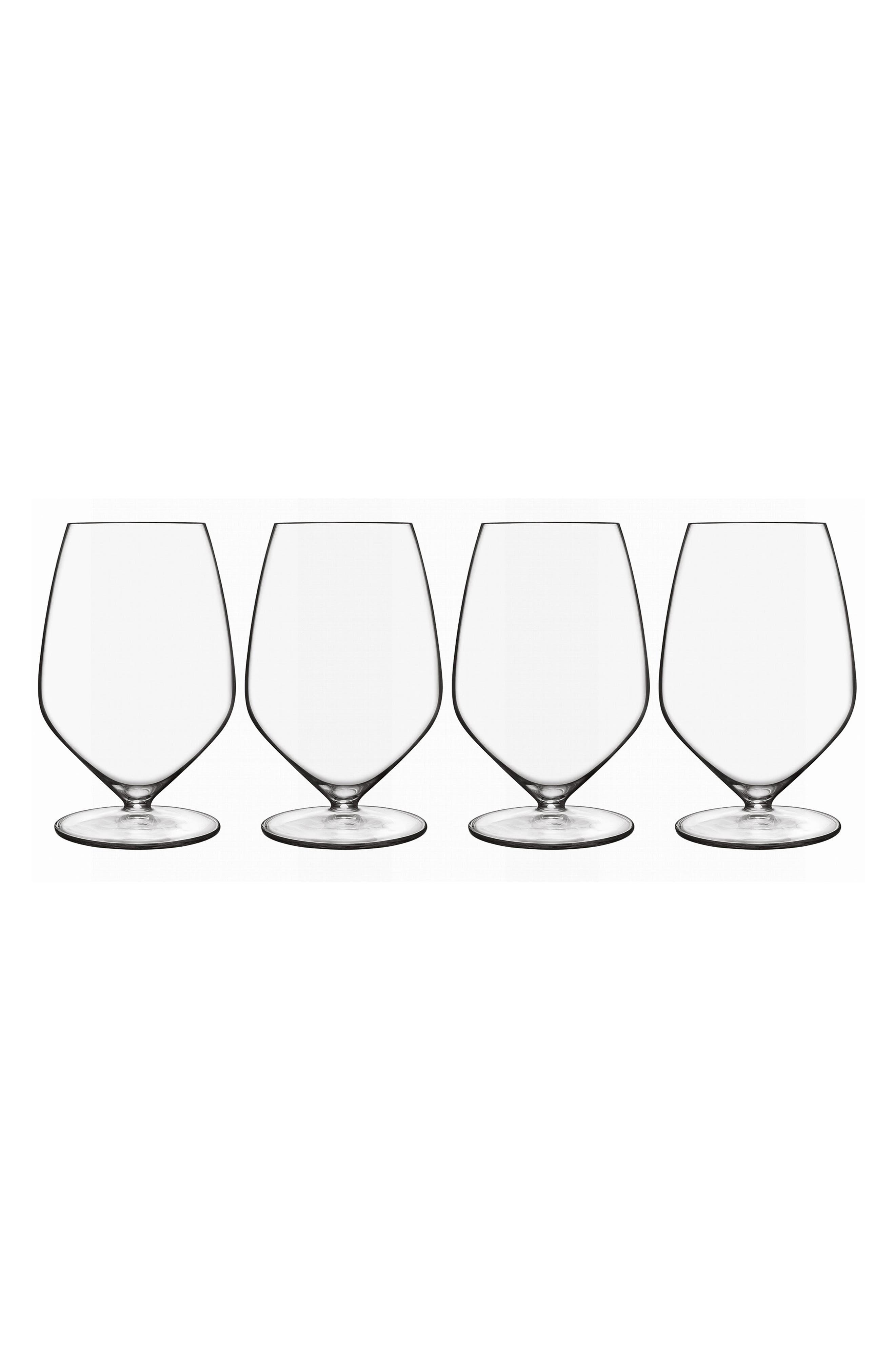 T-Glass Set of 4 Cabernet/Merlot Glasses,                             Main thumbnail 1, color,                             Clear