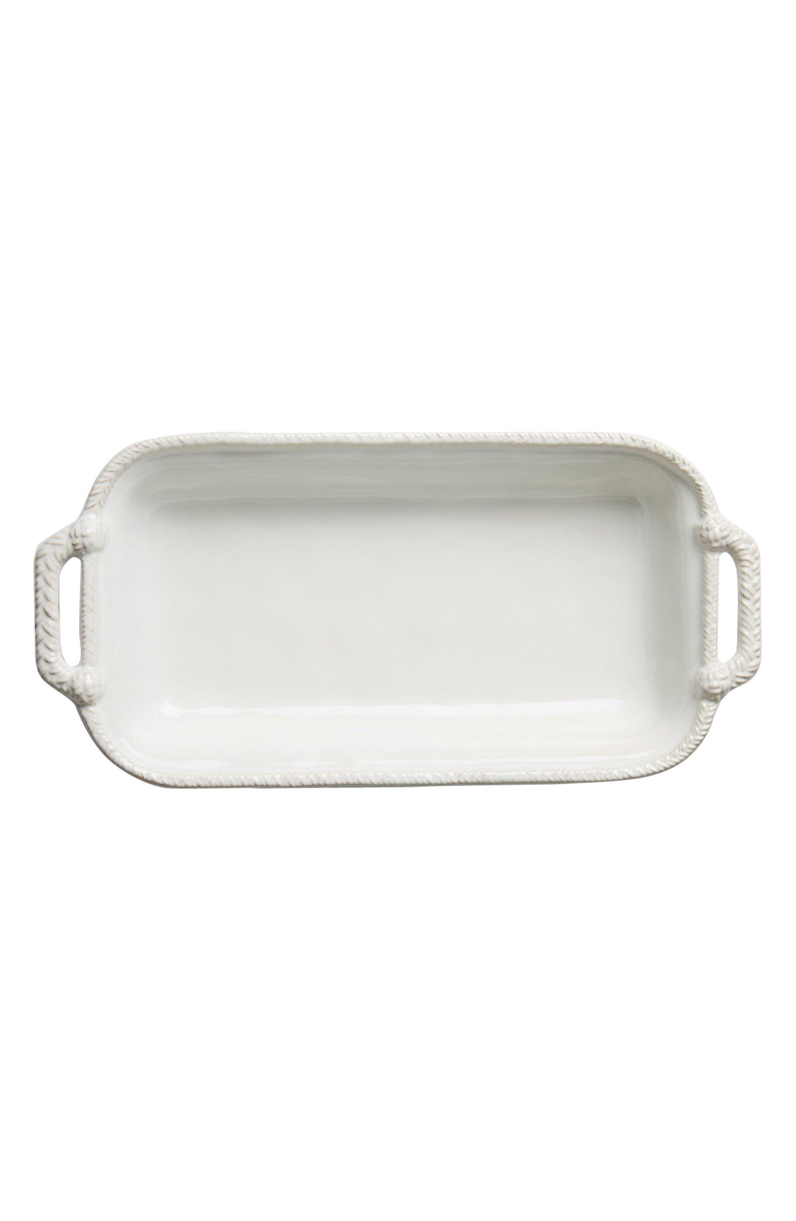 Le Panier 2-Quart Rectangular Baking Dish,                         Main,                         color, Whitewash