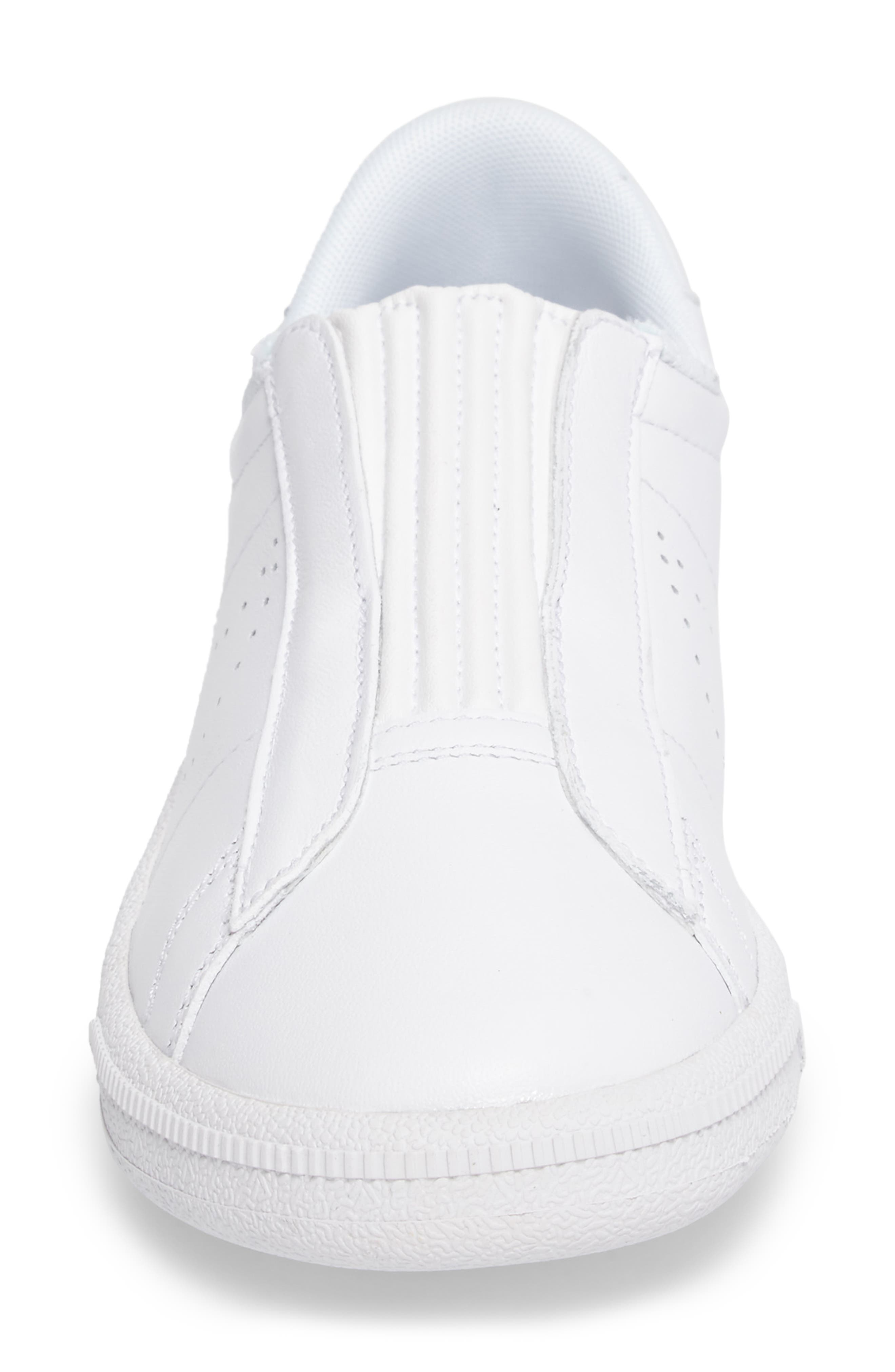 Classic EZ Slip-On Tennis Shoe,                             Alternate thumbnail 4, color,                             White/ White/ Black