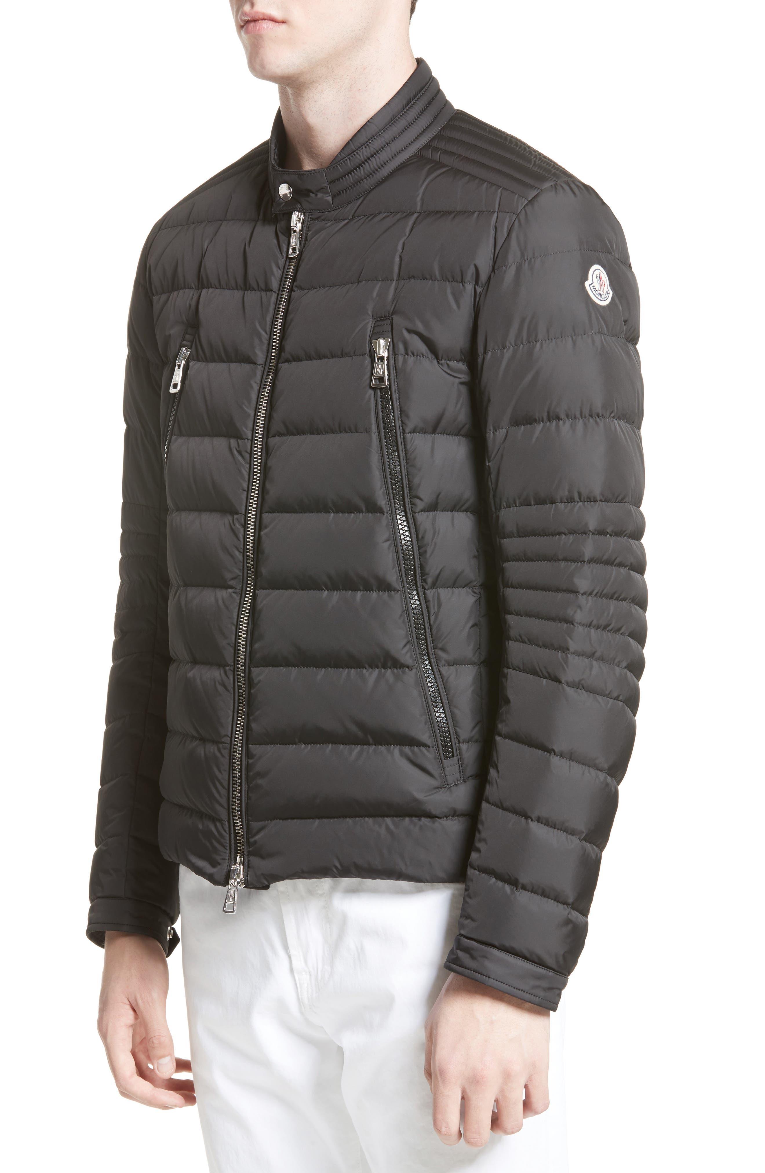 Amiot Down Moto Jacket,                         Main,                         color, Black